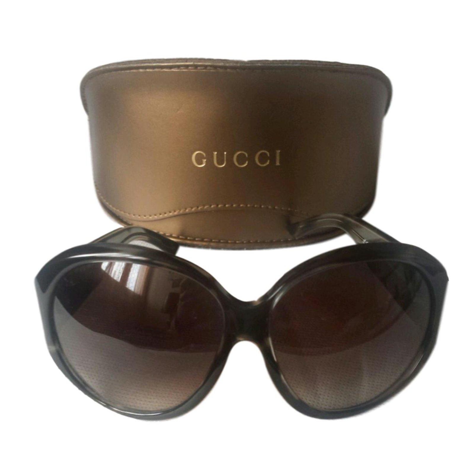 680bd7c913d Gucci Sunglasses Sunglasses Plastic Dark brown ref.63454 - Joli Closet