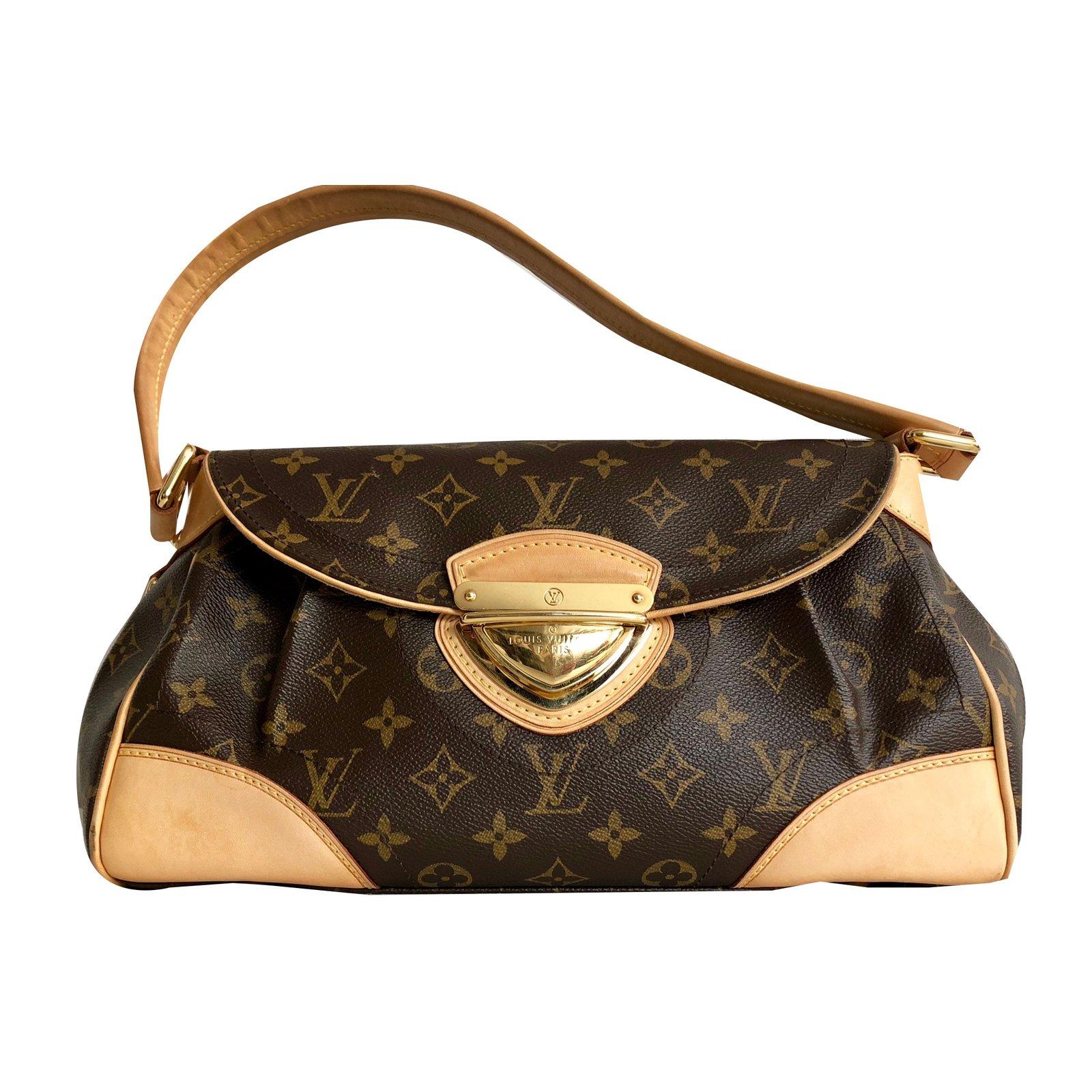 ae9a1ef134 Sacs à main Louis Vuitton Beverly MM Cuir,Toile Marron ref.63595 ...