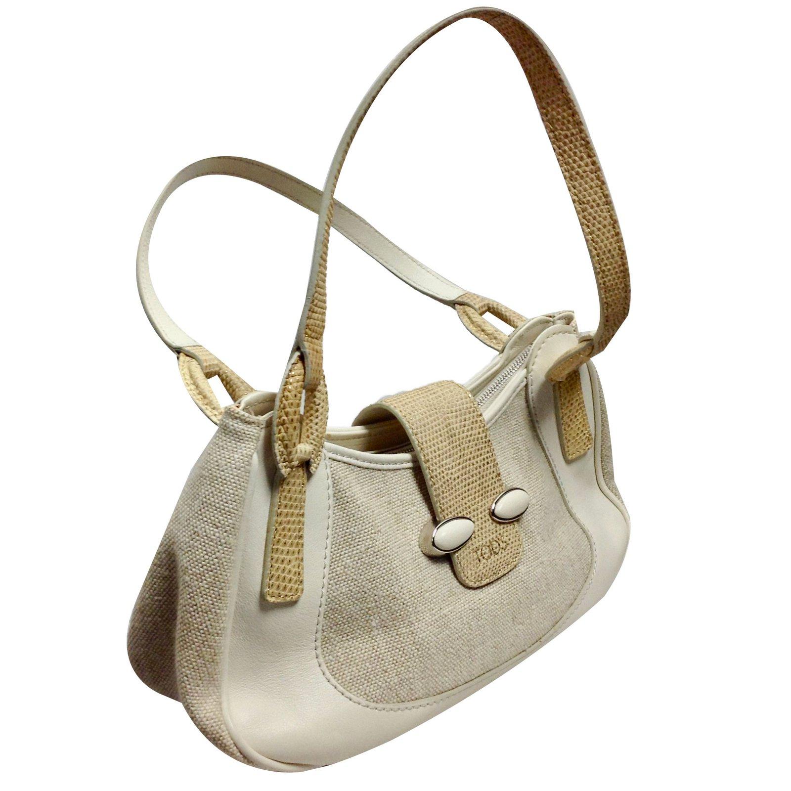 543ea1f9515da Tods Beige Leather Handbag