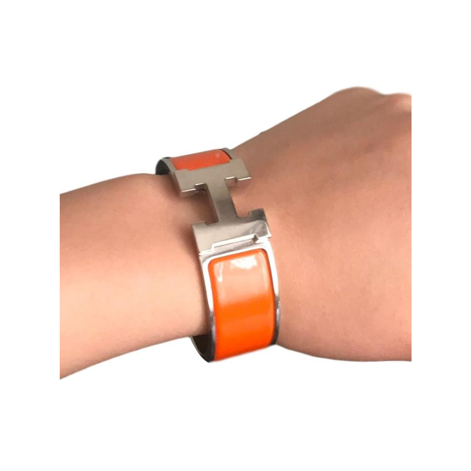 Hermès Clic H Bracelets Other Orange Ref 63865