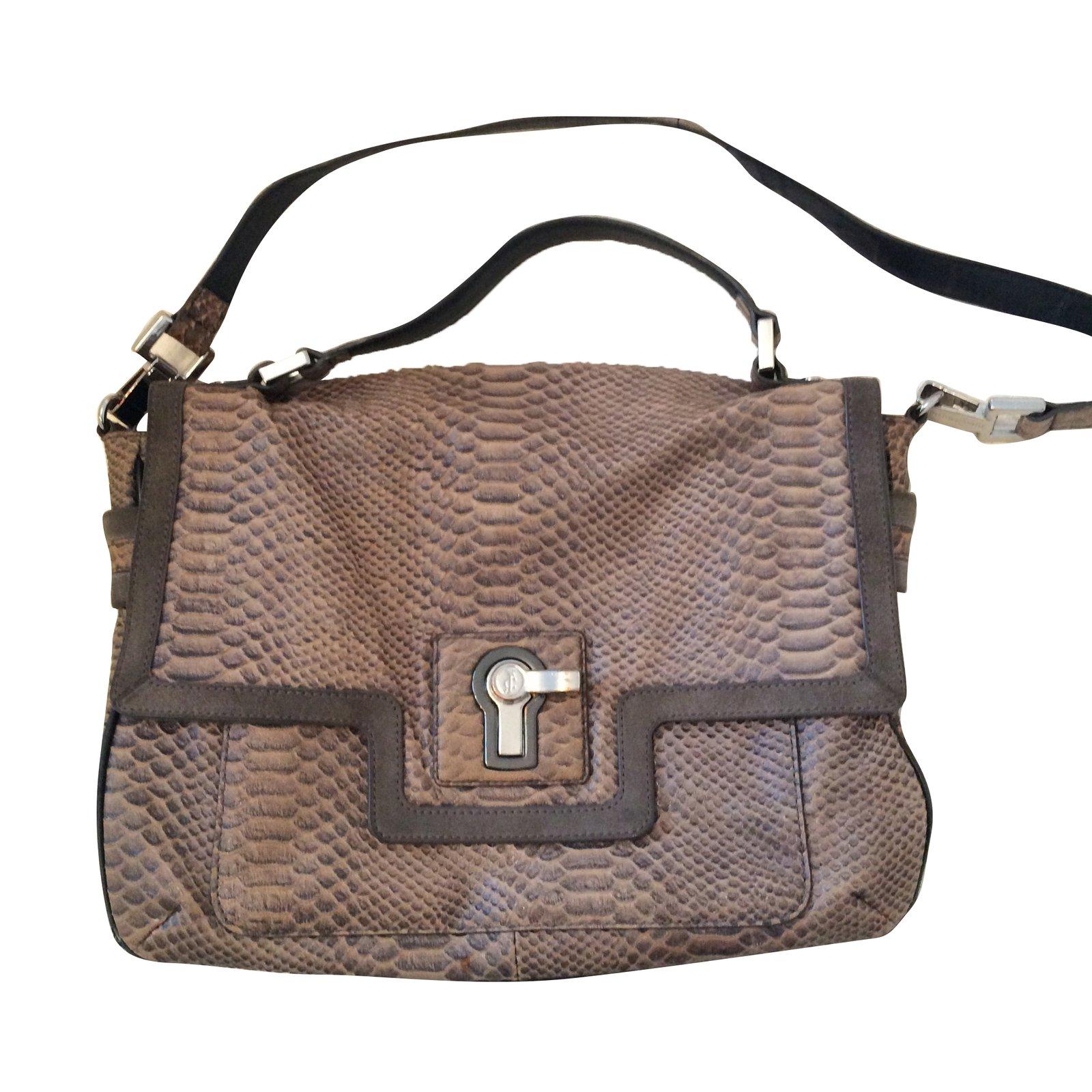 Juicy Couture Handbags Leather Dark Grey Ref 63963
