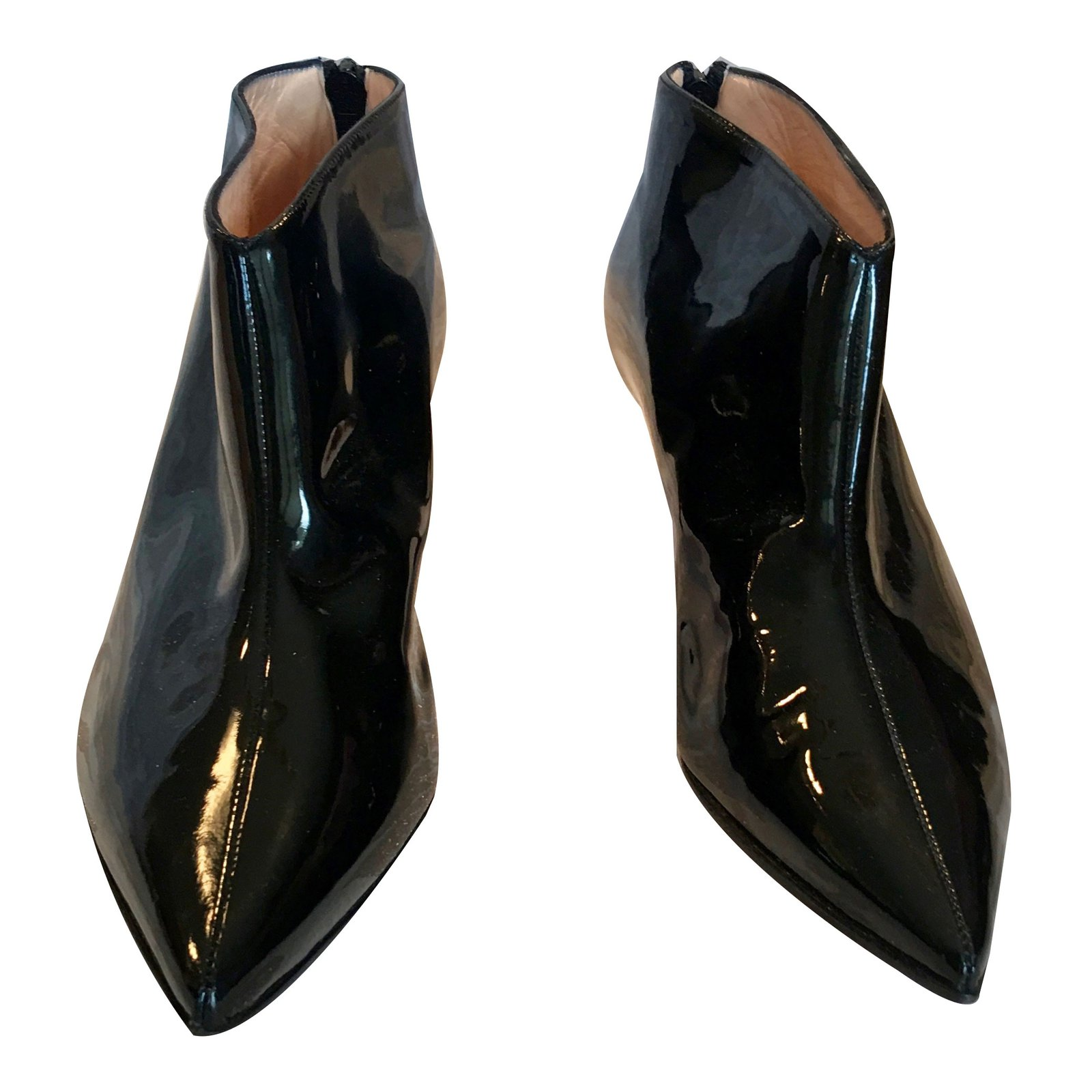 f58e9c651204 ... norway christian louboutin ankle boots ankle boots patent leather black  ref.64006 e37c5 8e792