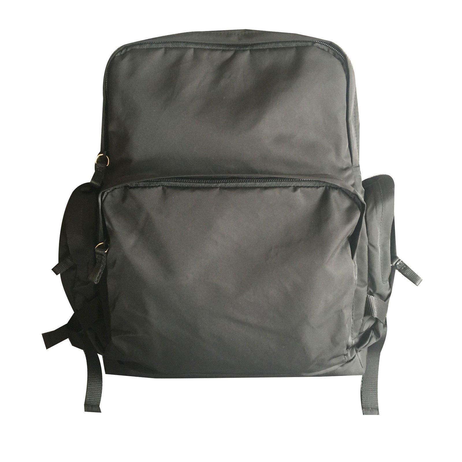 4e4812fb7bba Prada Prada backpack Bags Briefcases Nylon Black ref.64226 - Joli Closet