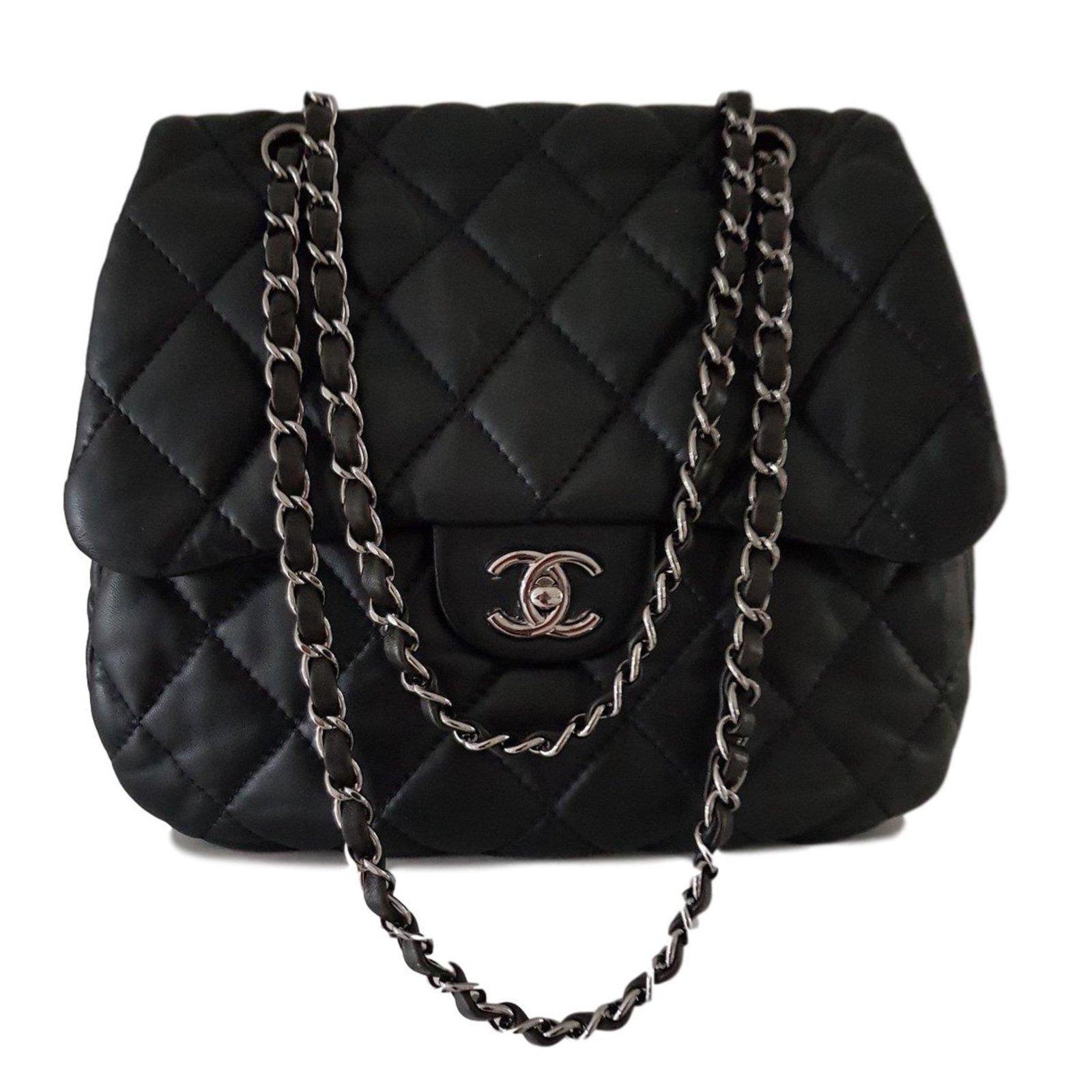 Sacs A Main Chanel Sac Matelasse Cuir Noir Ref 64395 Joli Closet