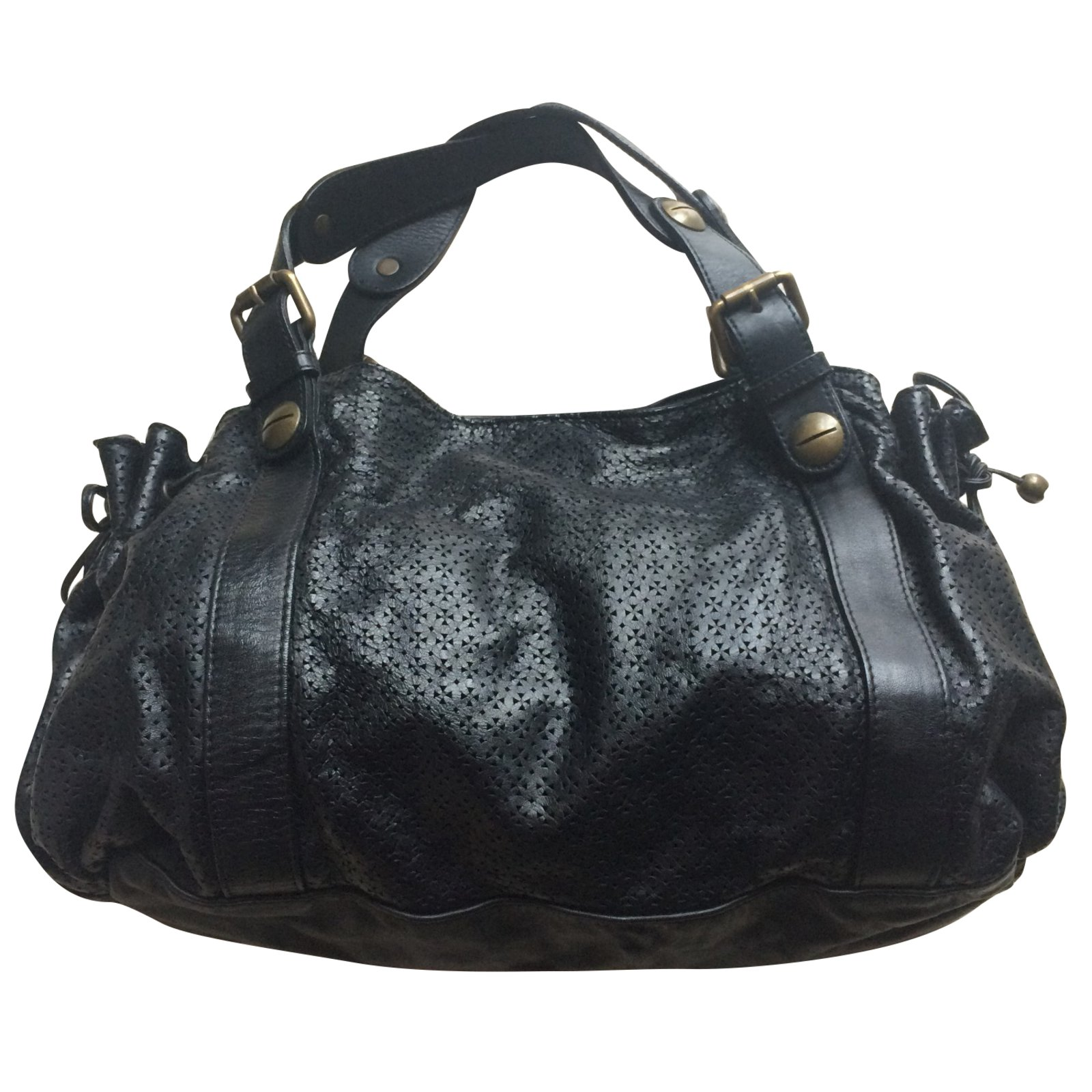 Gerard Darel Handbags Leather Black Ref 64452