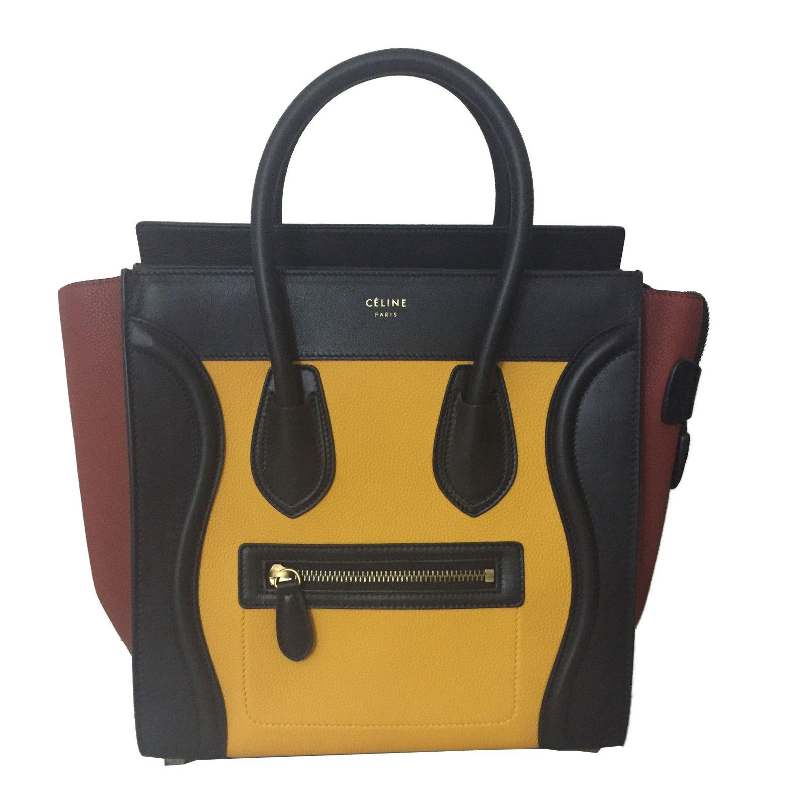 Céline Micro Luge Handbags Leather Multiple Colors Ref 64591