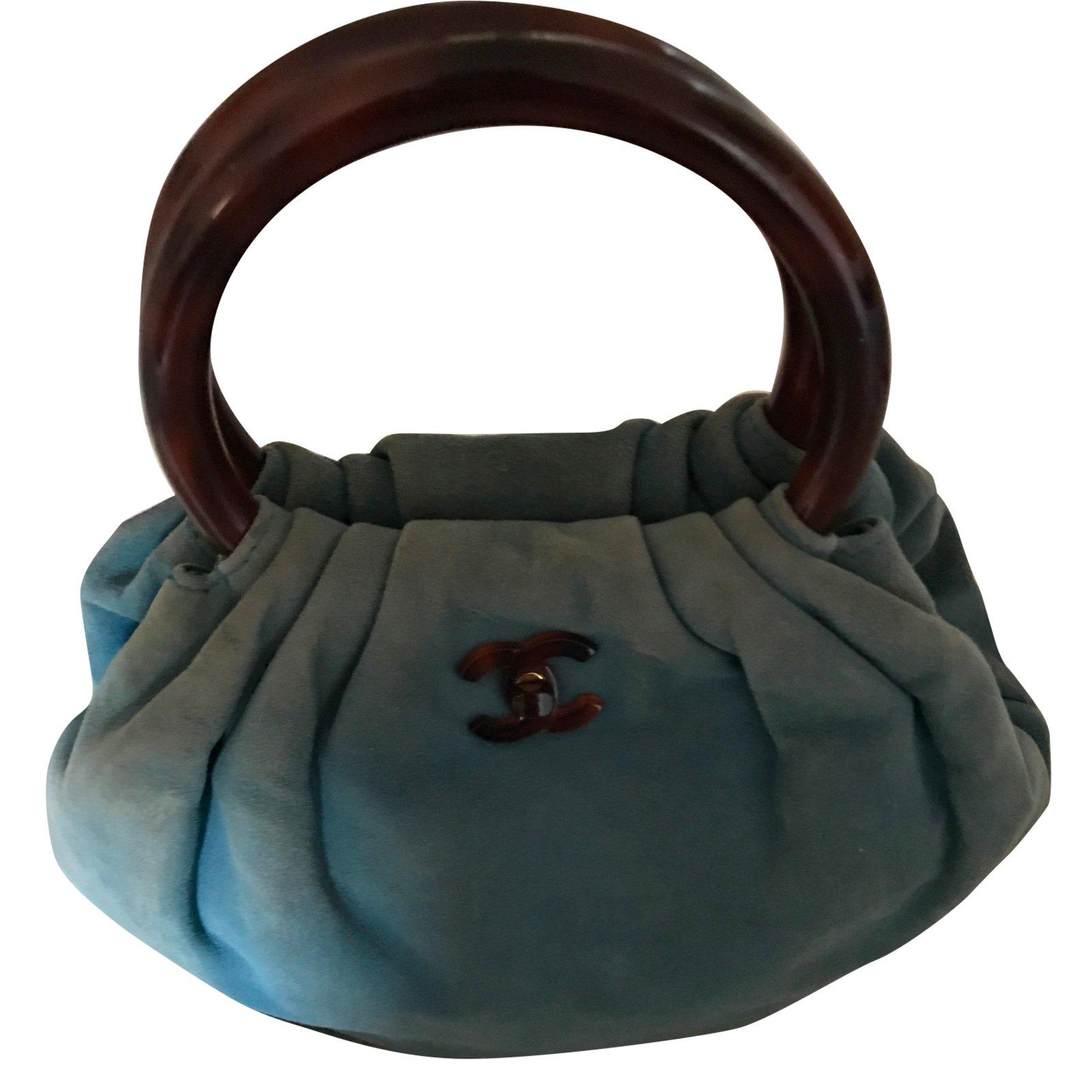 49588505951d Sacs à main Chanel Sacs à main Daim Bleu ref.64734 - Joli Closet