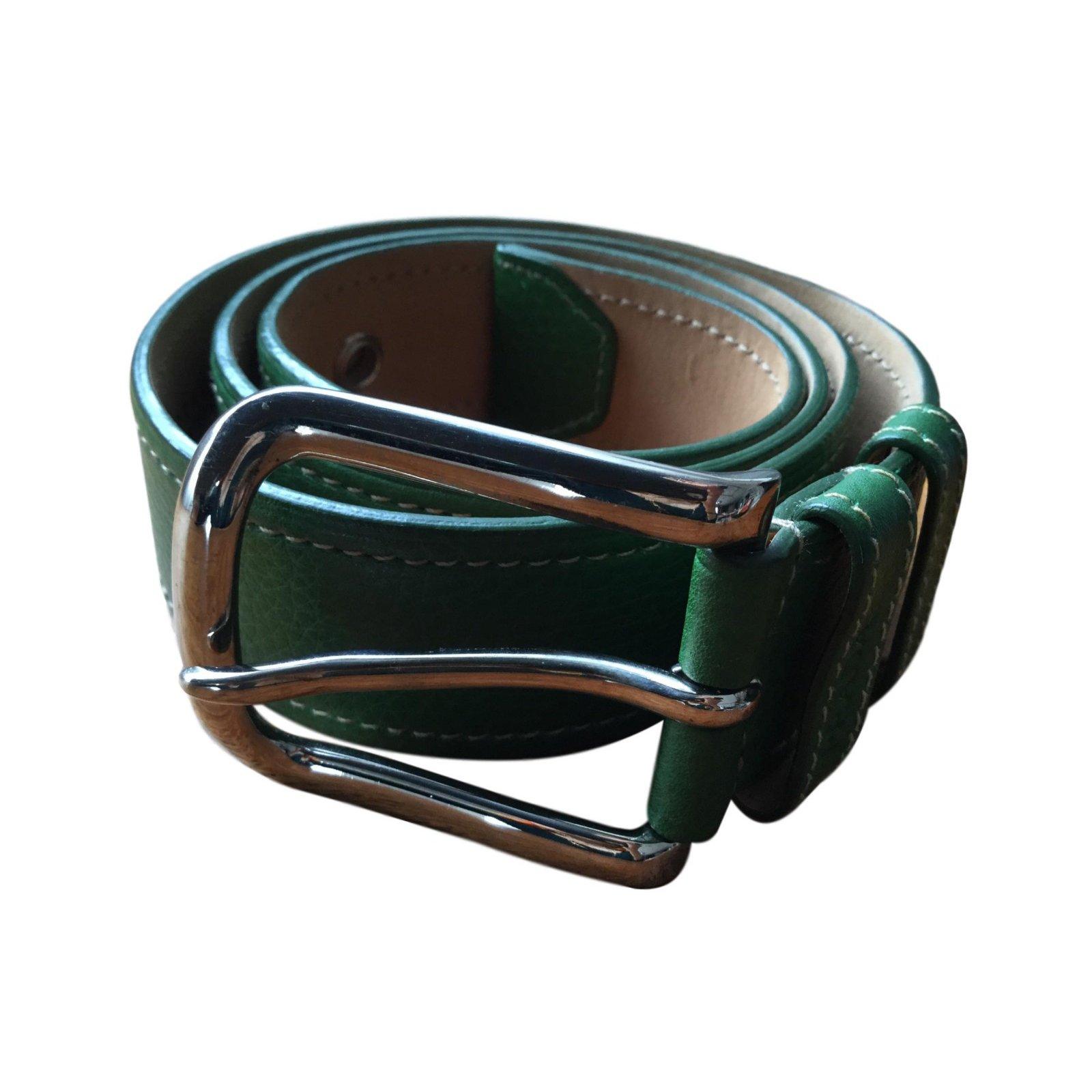 4798c74f383 Ceintures Prada Ceinture Cuir Vert ref.64877 - Joli Closet
