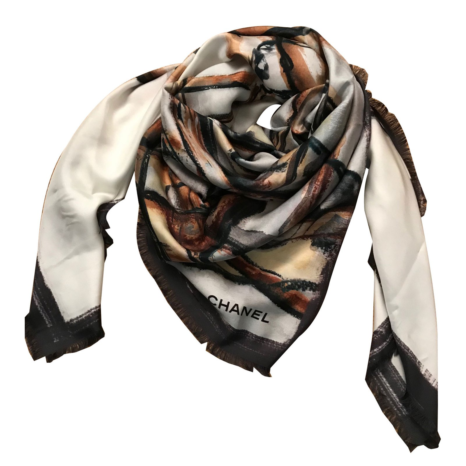 Foulards Chanel FOULARD SOIE Soie Multicolore ref.64917 - Joli Closet c77a6a749b0