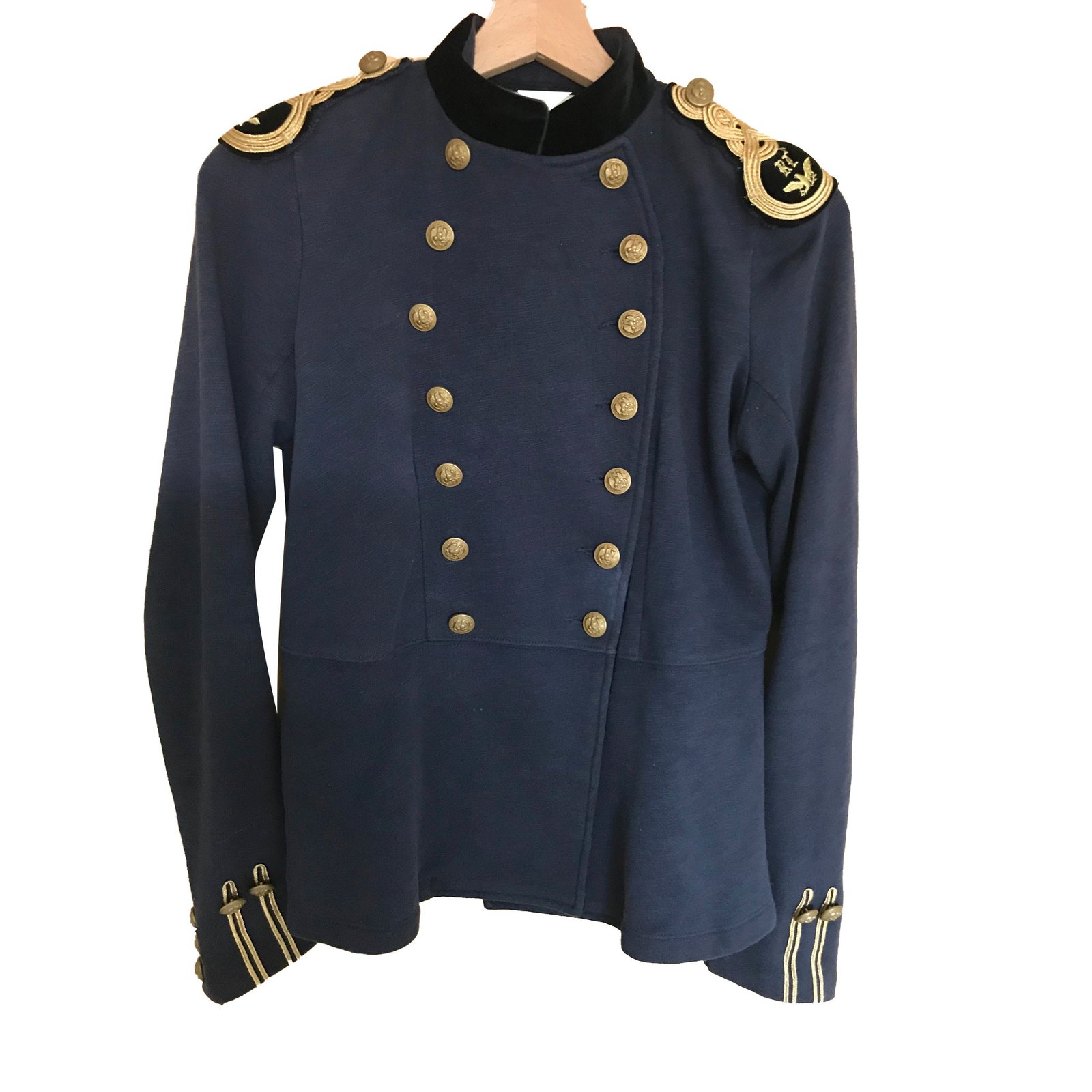 Ralph Lauren Bleu Ref 64950 Marine Polo Joli Coton Vestes Cwq5O5