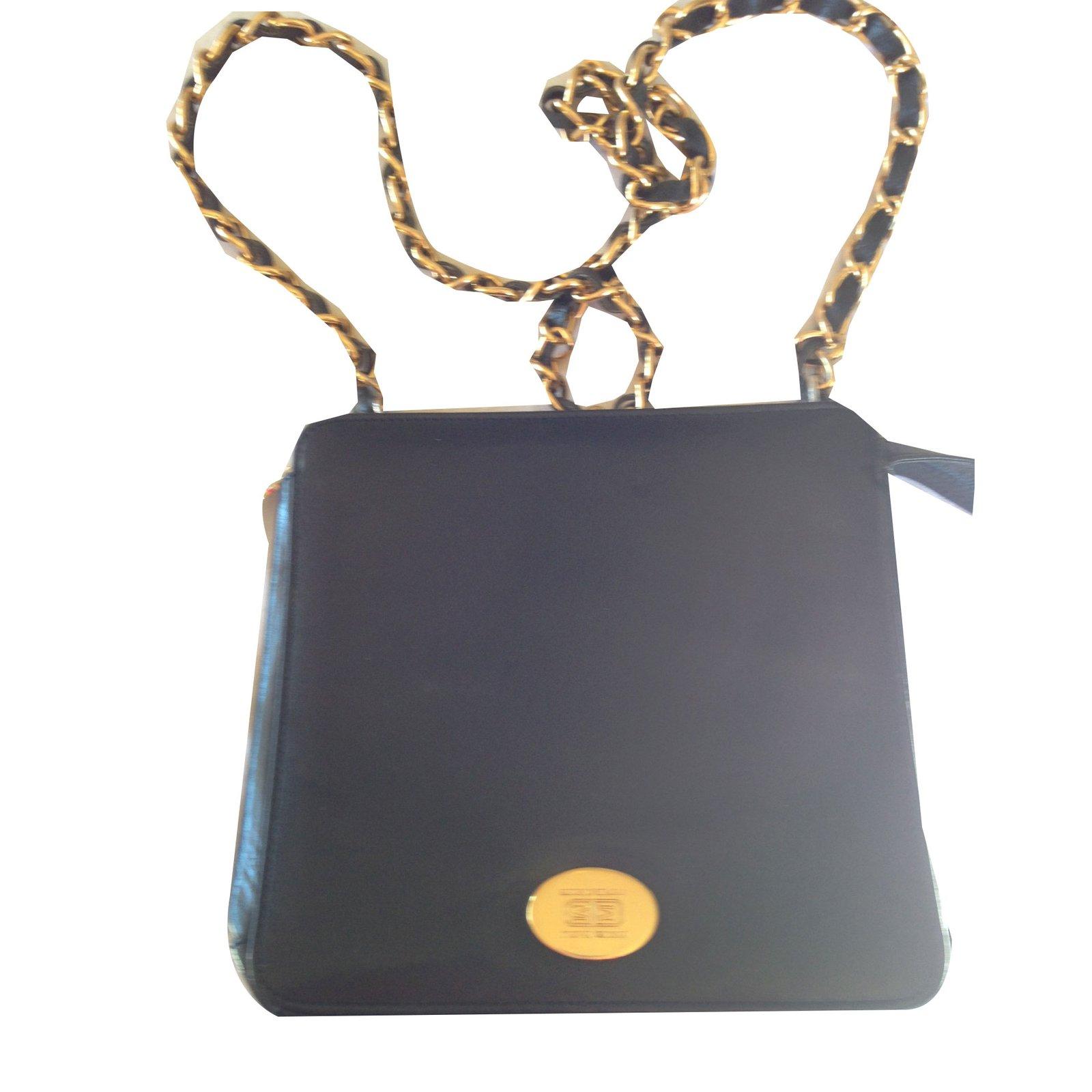 Bruno Magli Handbags Leather Black Ref 65187
