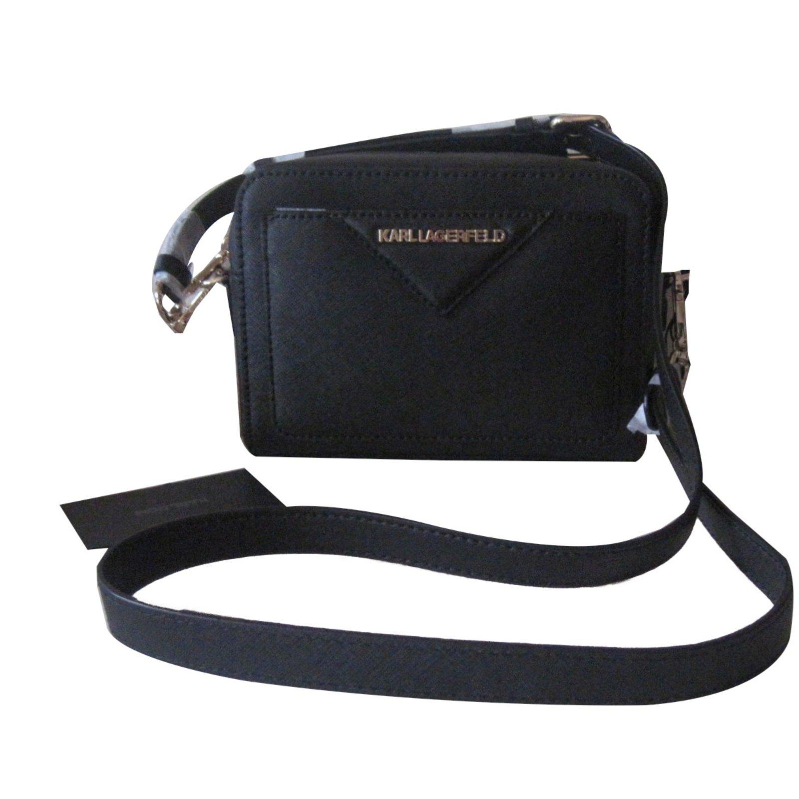 Karl Lagerfeld Handbags Leather Black Ref 65332