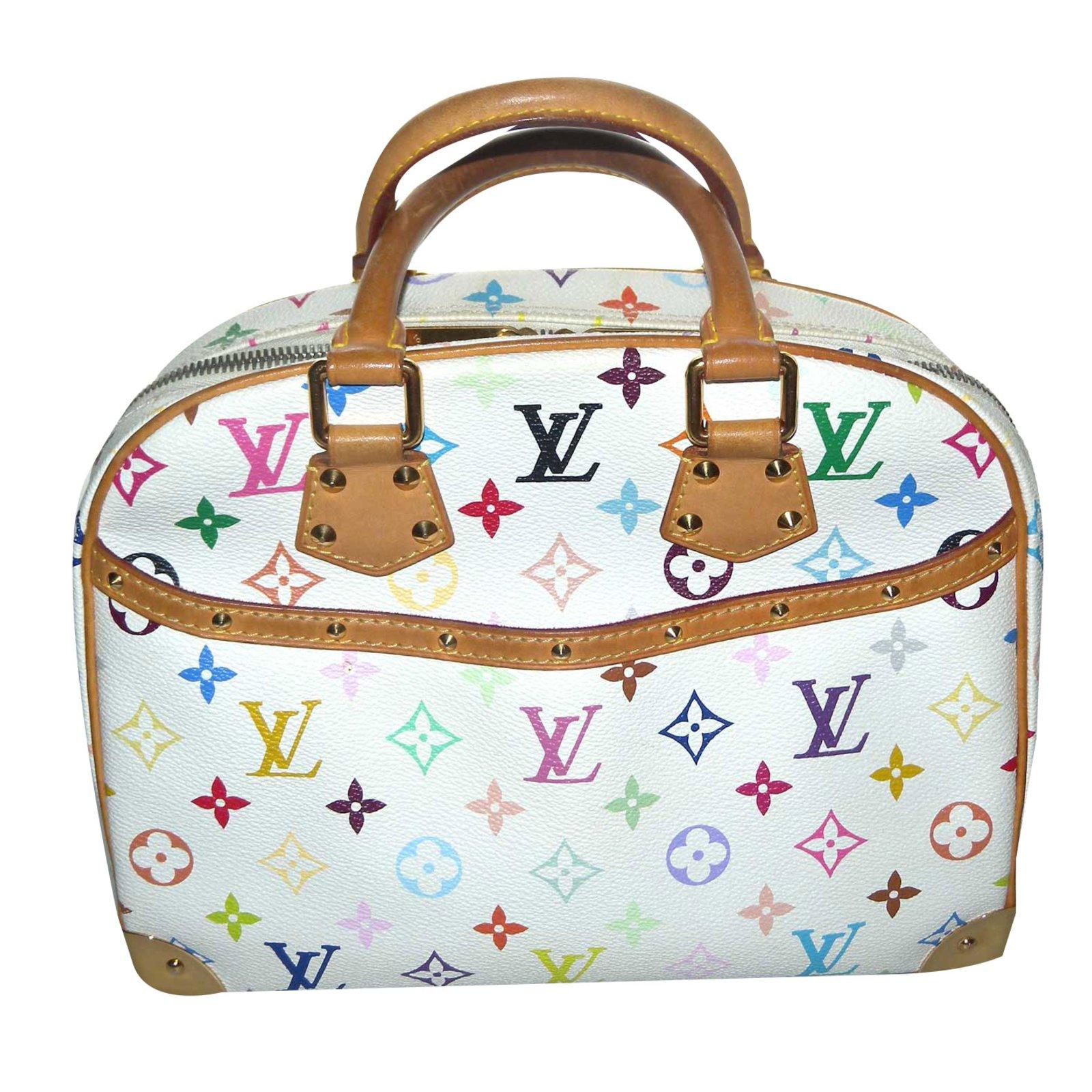 Louis Vuitton Handbags Leather White Multiple Colors Ref 65813