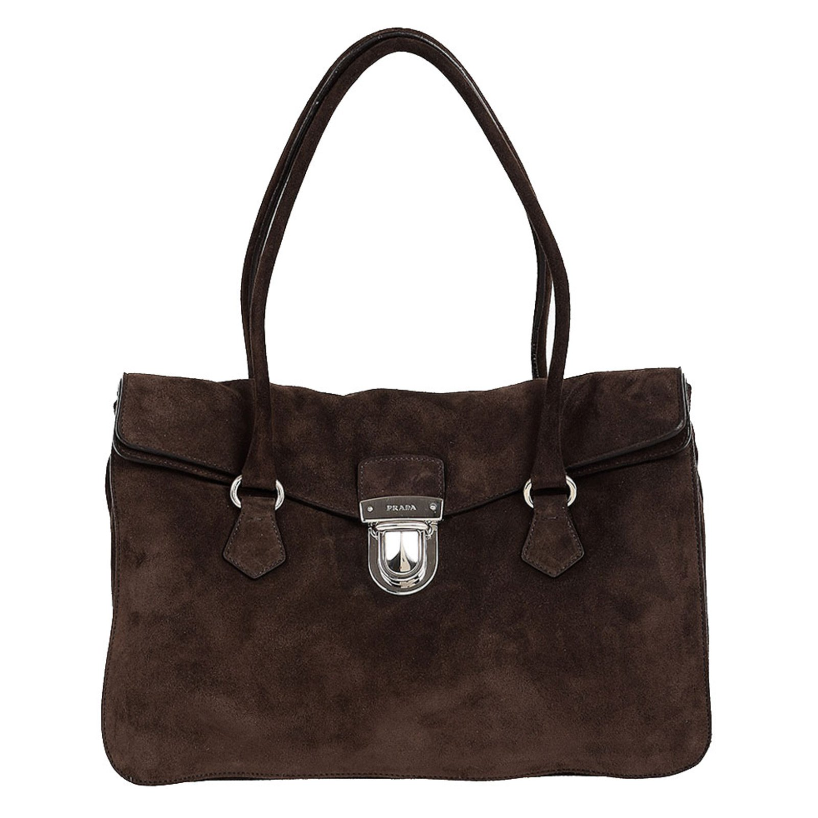a0a4eee7dc6 ... italy prada prada suede leather bag handbags suede brown ref.65835  3bba7 1dde4