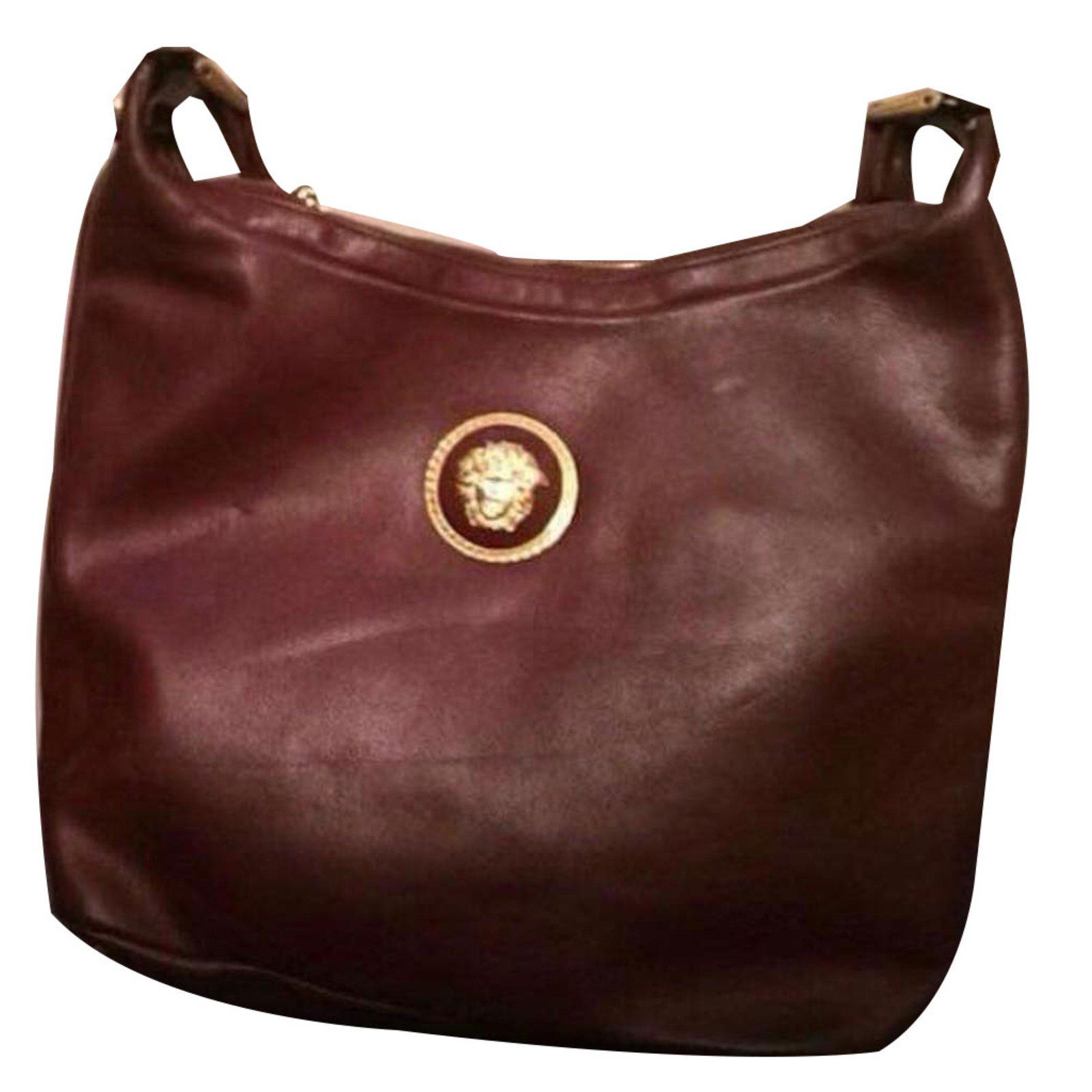 a18cdfed08 Gianni Versace Handbags Handbags Leather Brown ref.66125 - Joli Closet