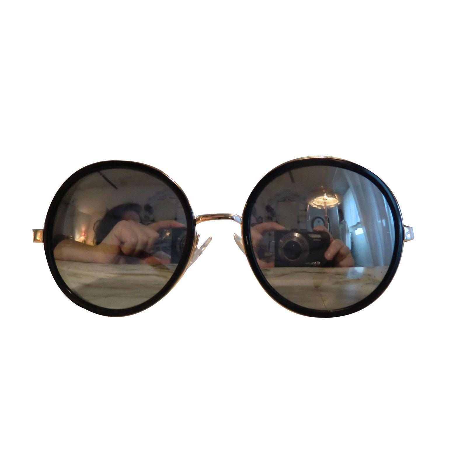 Lunettes Jimmy Choo Lunettes de soleil Métal Noir ref.66127 - Joli ... 0cd256ec75a7