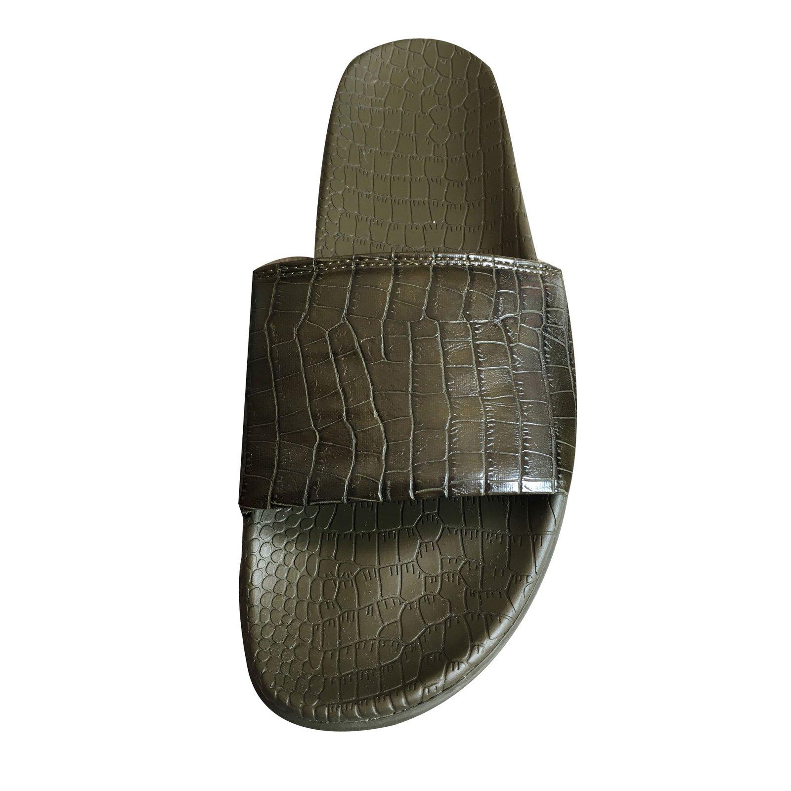 Sandales Homme Zara Sandales Homme Synthetique Vert Ref 66386 Joli
