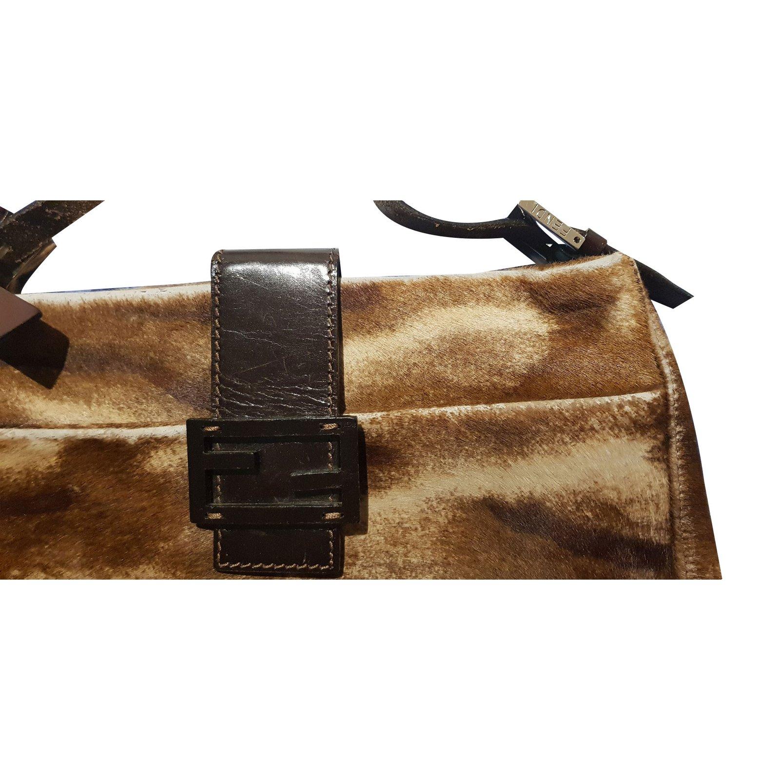 e3abf496a295 ... get fendi calf skin tote handbags pony style calfskin brown ref.66419  f9f98 fd992 wholesale ...