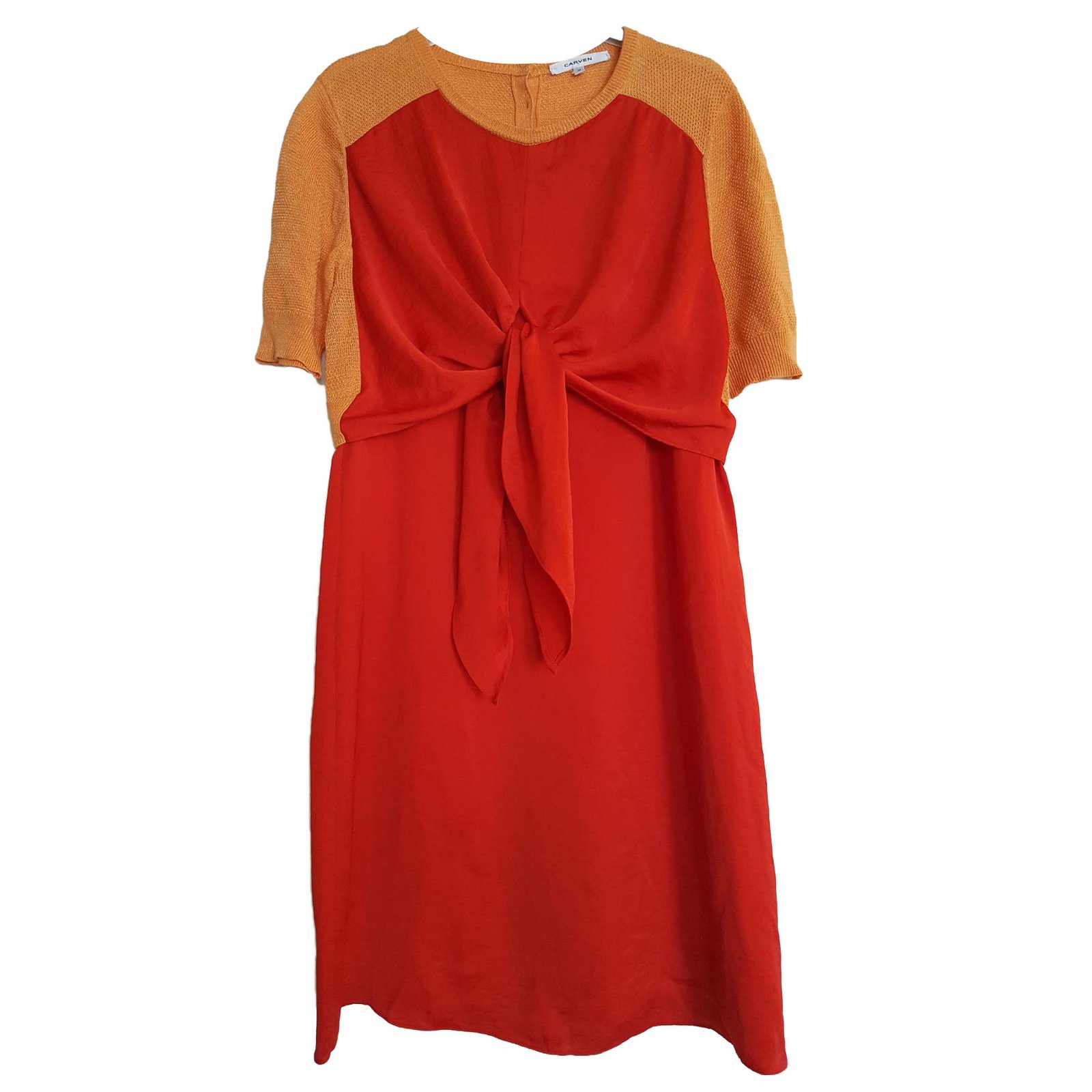 Carven Dress Dresses Polyester Red ref.66473 - Joli Closet