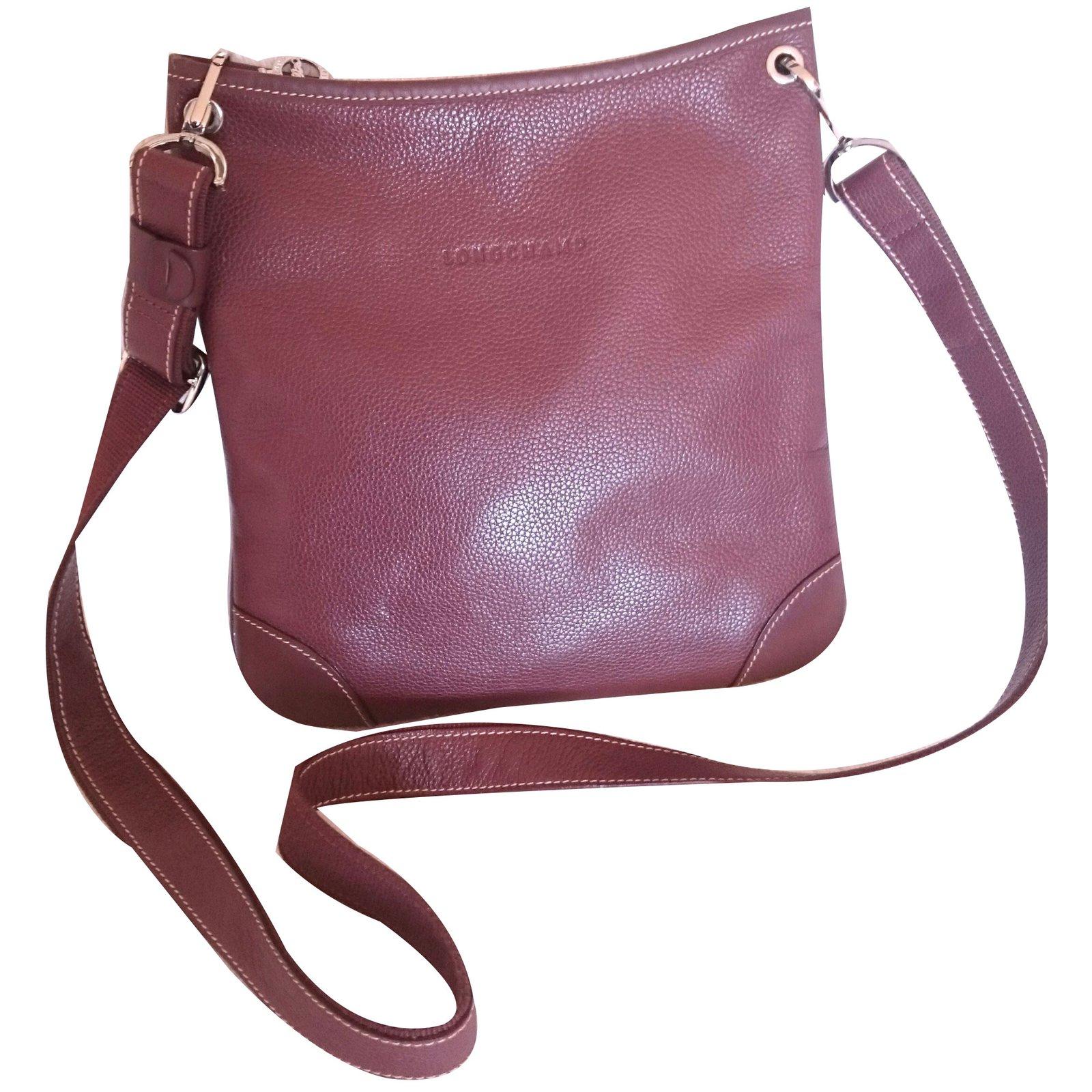 37f20500a9c2 Longchamp Handbags Handbags Leather Brown ref.66482 - Joli Closet