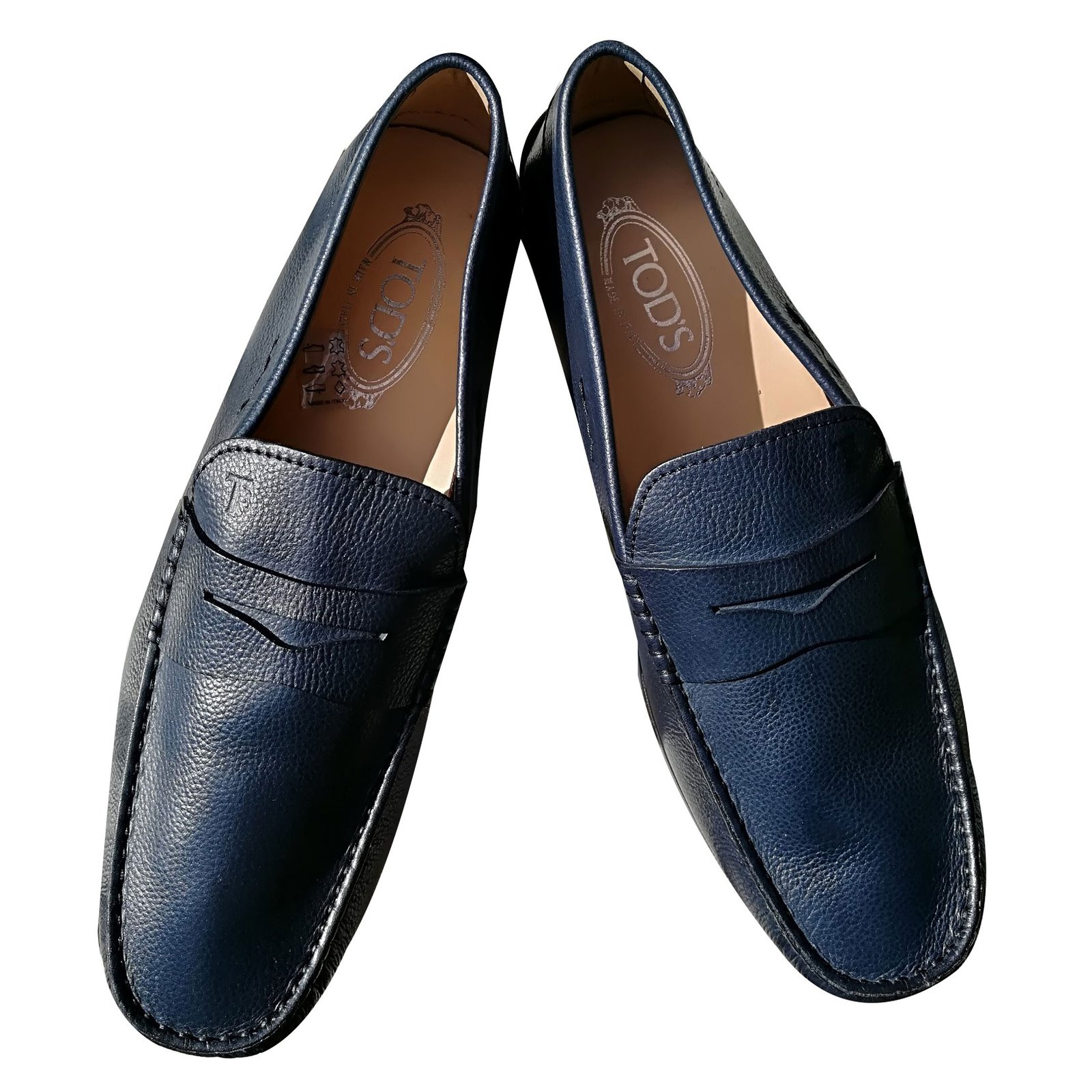 0a2aaee6133 Tod s Loafers Slip ons Loafers Slip ons Leather Navy blue ref.66741 ...