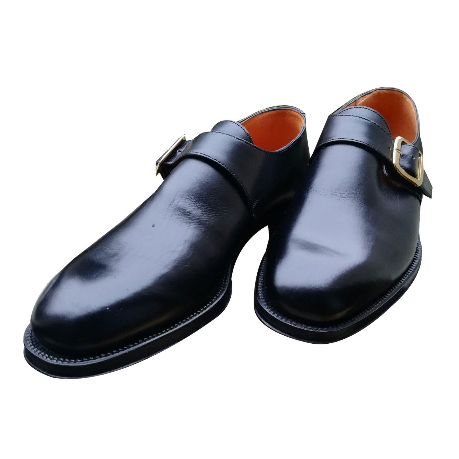 derbies homme autre marque chaussure boucle cuir noir ref. Black Bedroom Furniture Sets. Home Design Ideas