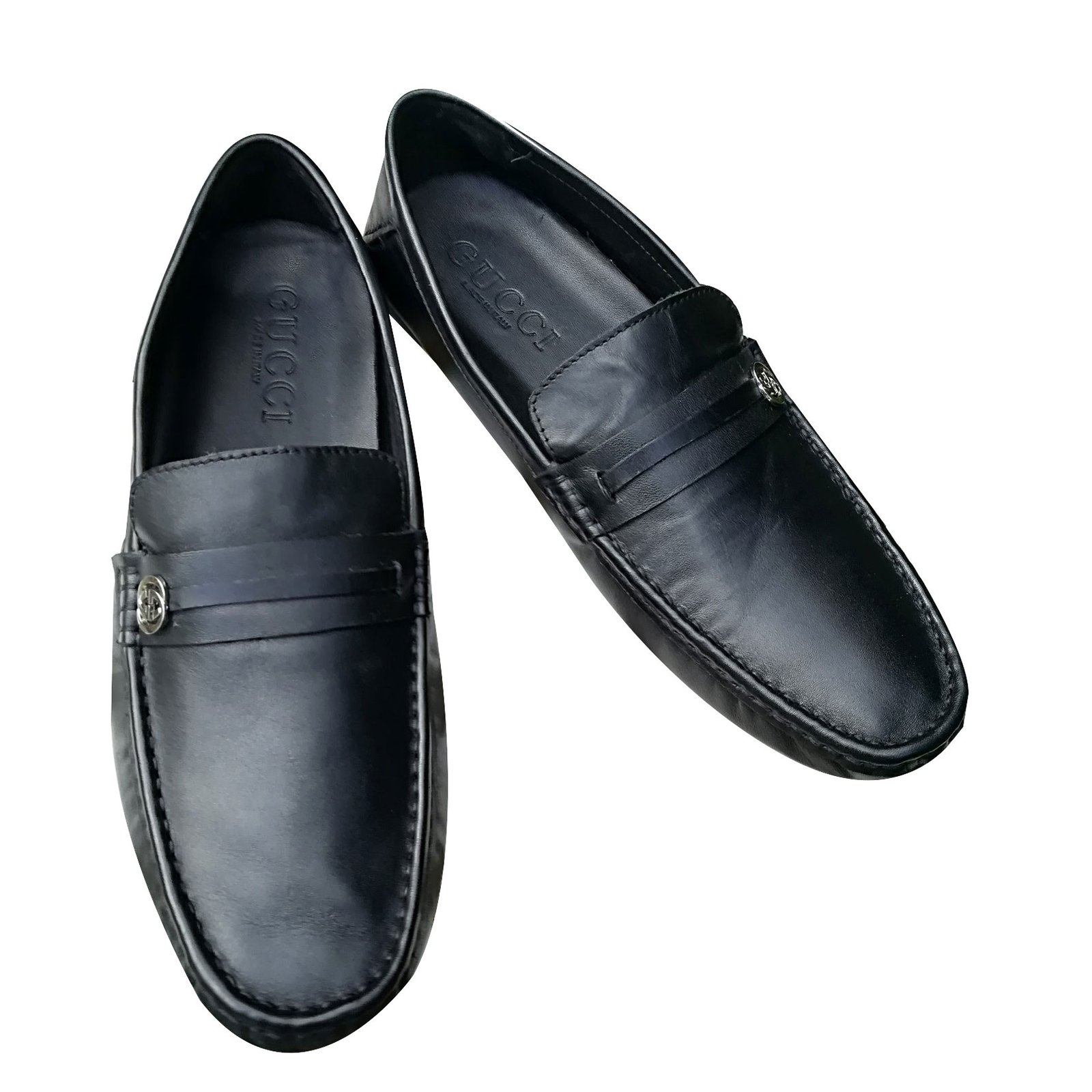 1b5fd995ce65 Gucci Loafers Slip ons Loafers Slip ons Leather Black ref.66771 ...
