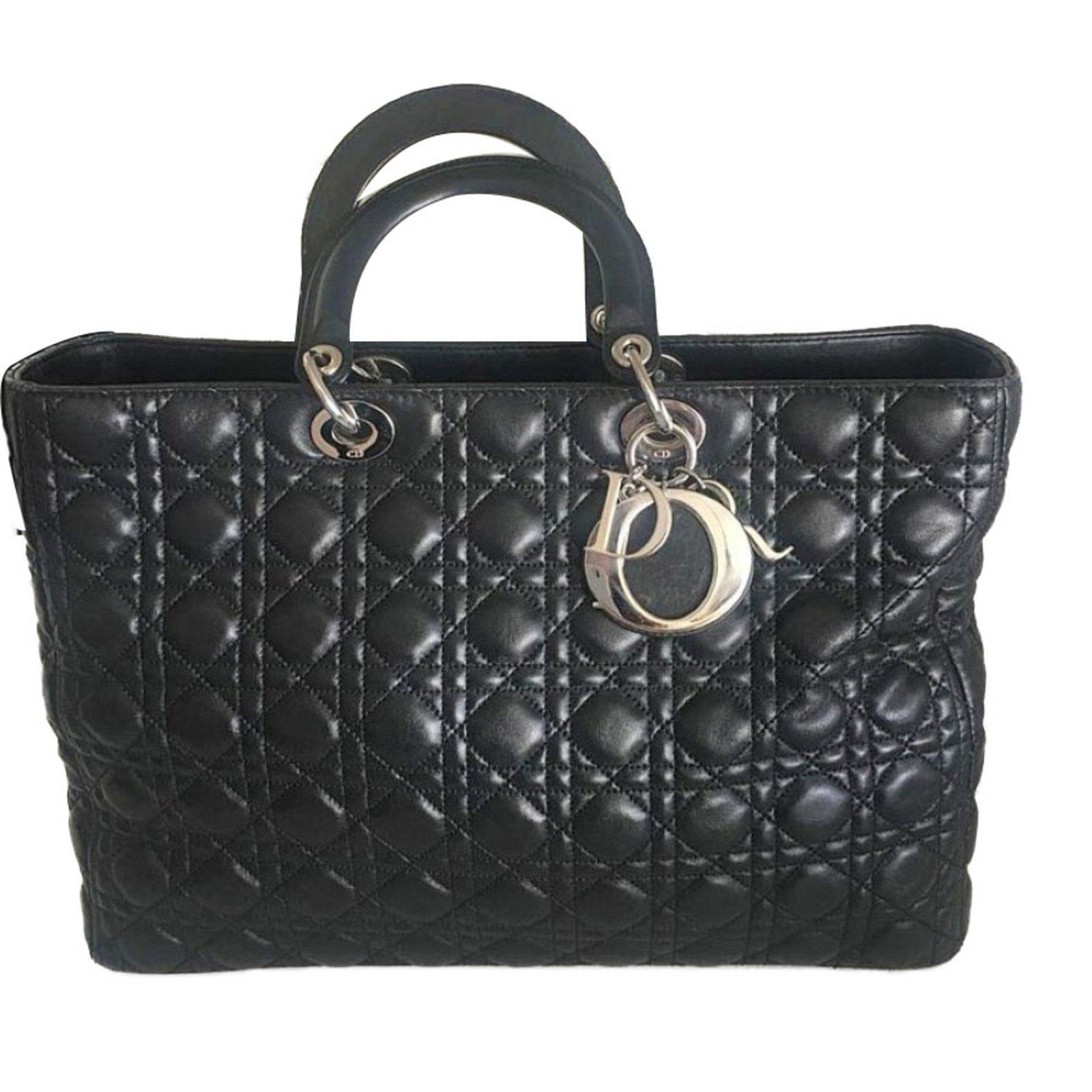 5063b00fb2f1 Sacs à main Dior Lady Dior Cuir Noir ref.66791 - Joli Closet