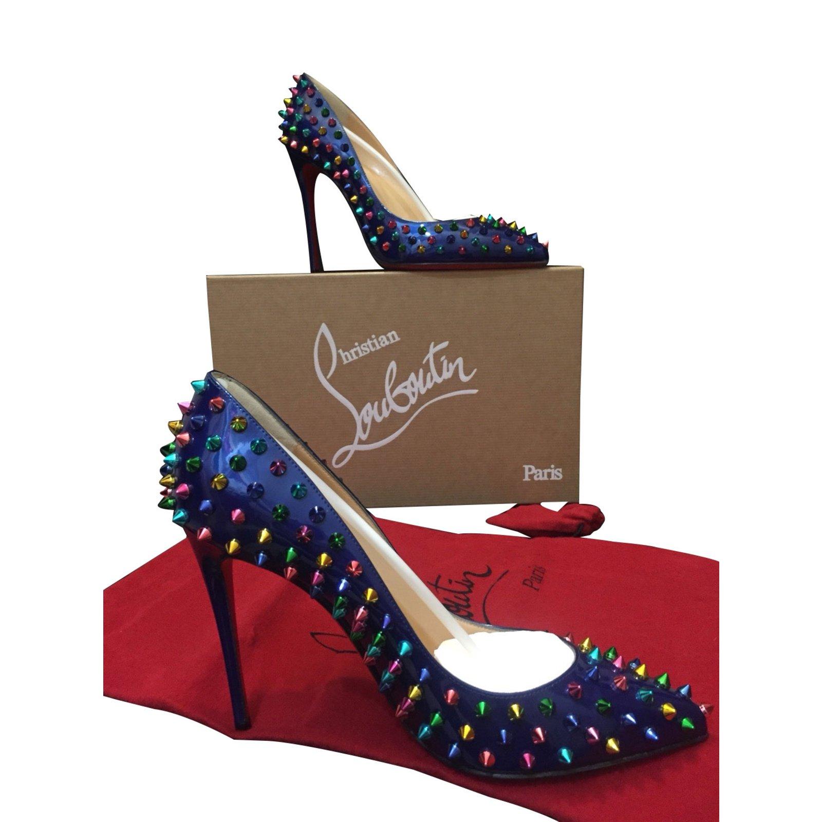 Christian Louboutin heels blue patent