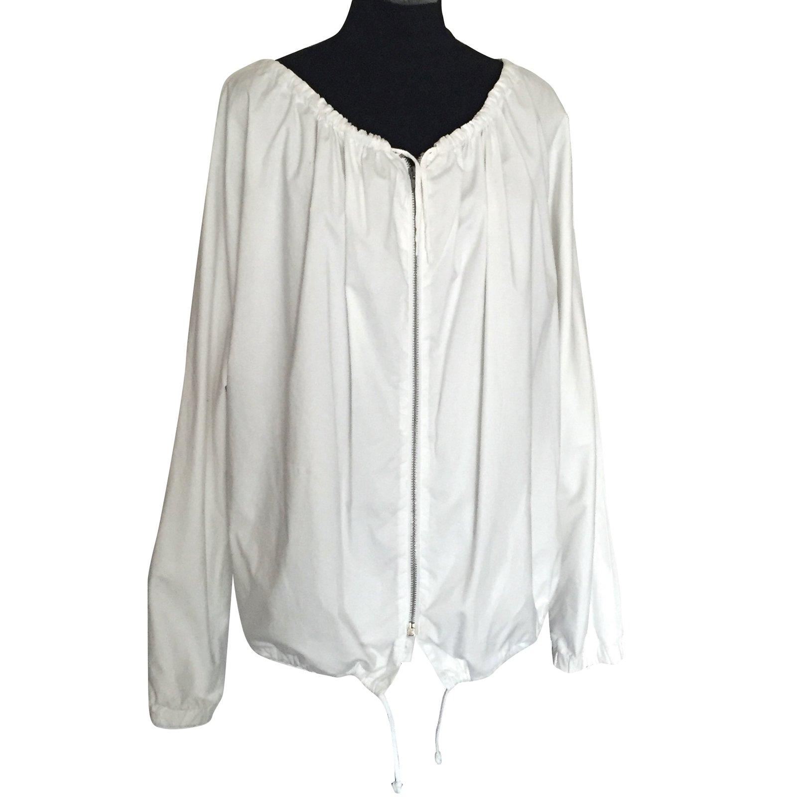 bf4cc64103cf2c Helmut Lang Blouse Jackets Cotton White ref.66918 - Joli Closet