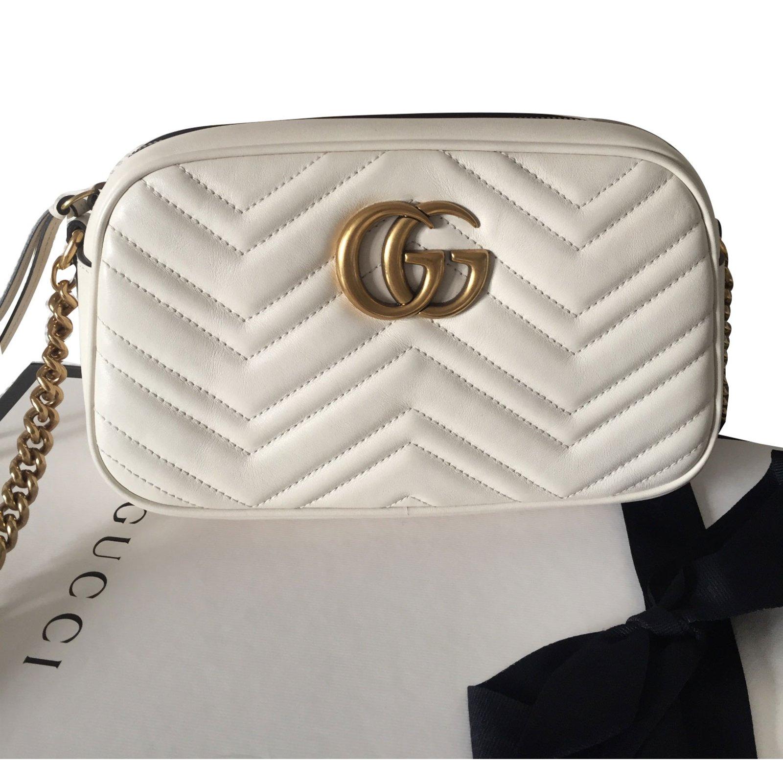143fbb2e576 Gucci Marmont Handbags Leather White ref.67039 - Joli Closet