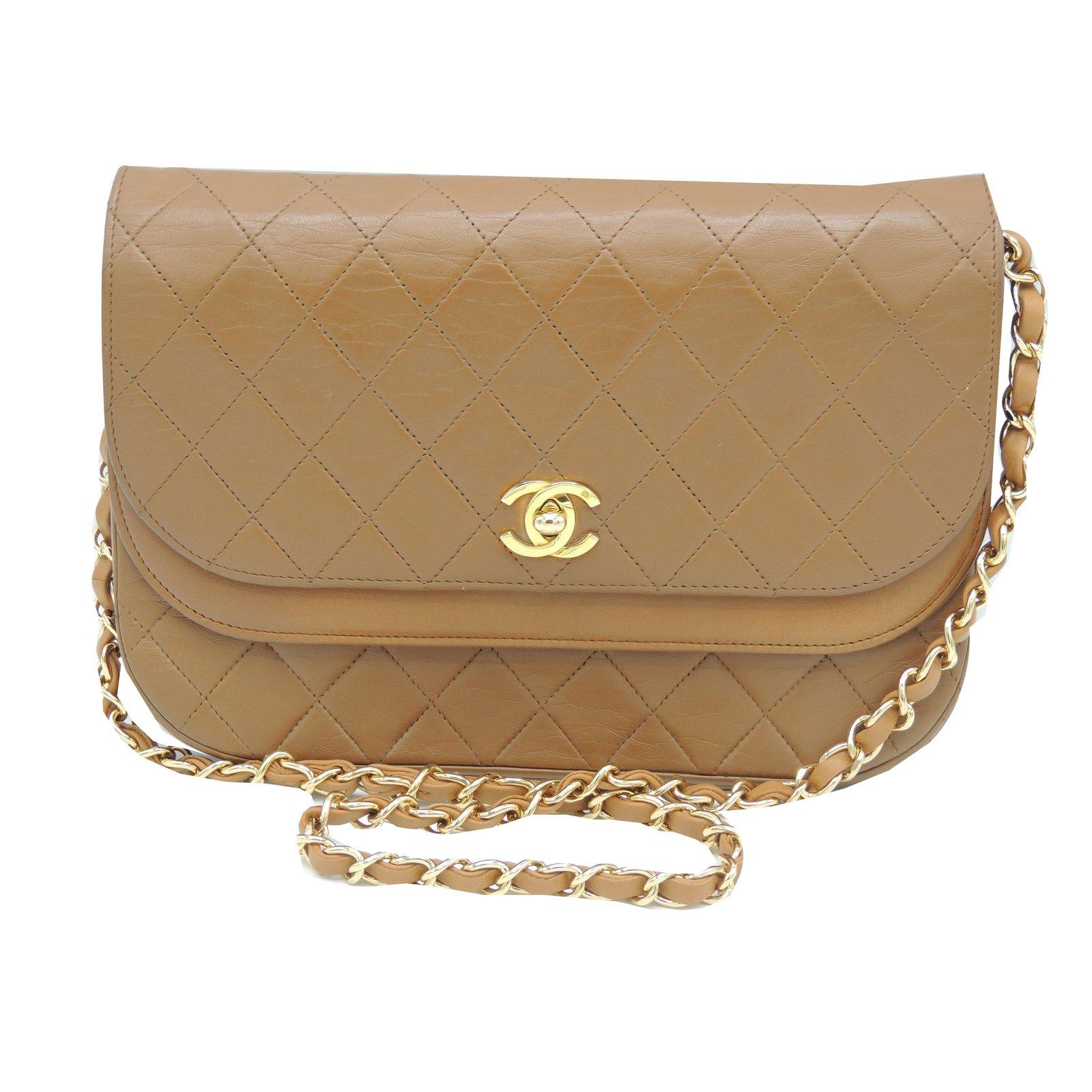 Sacs à main Chanel Agneau matelassé vintage Cuir Caramel ref.67056 ... cc40db4ab06