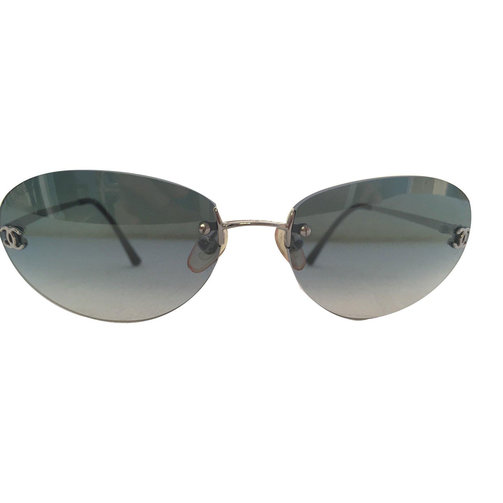 e542e8abf2a5 Chanel Sunglasses Women Source · Chanel Sunglasses Sunglasses Metal Blue  ref 67086 Joli Closet