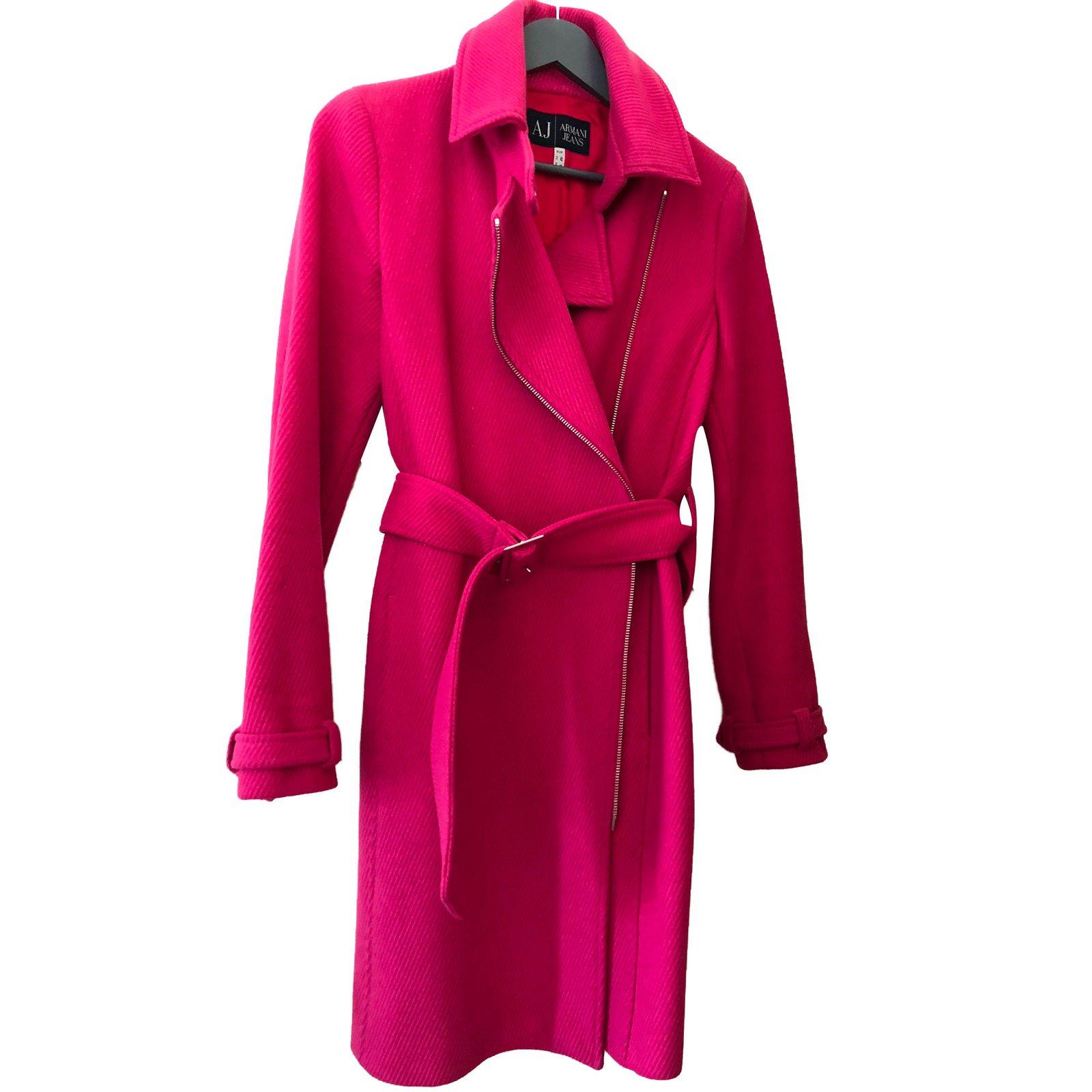Manteaux Armani Jeans Manteau Laine Rose ref.67087 - Joli Closet 124eb1d024d