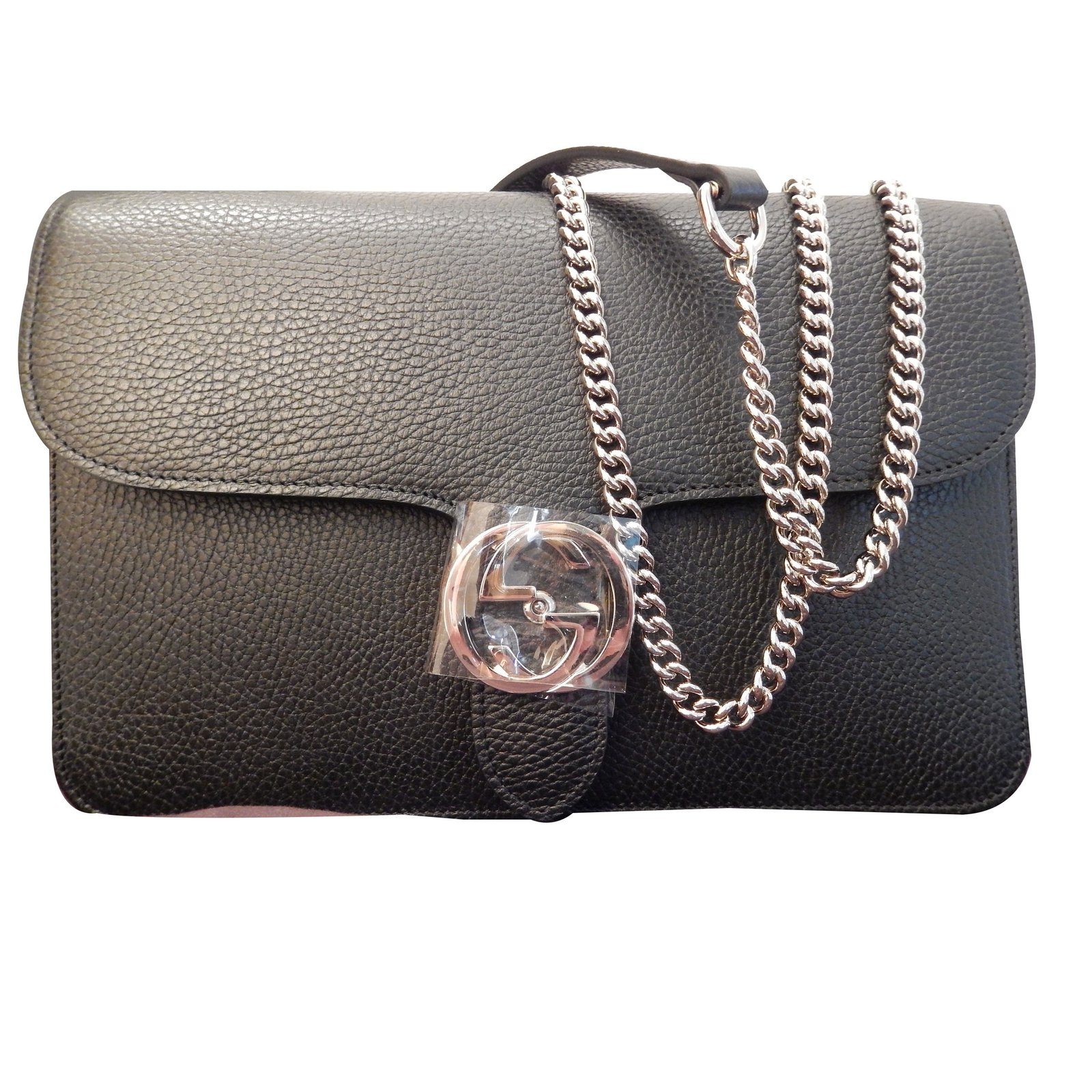 3d02f8a7310a Sacs à main Gucci Sac à main Gucci Interlocking Cuir Noir ref.67105 ...
