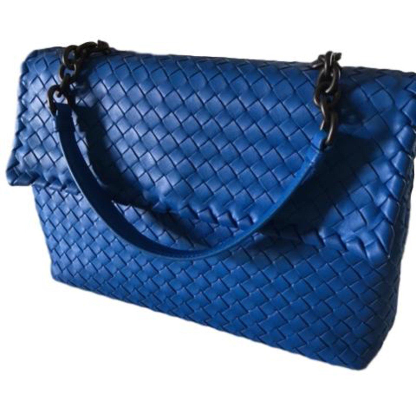 2ee900d9ab9a Bottega Veneta Olimpia Bag Handbags Leather Blue ref.67358 - Joli Closet