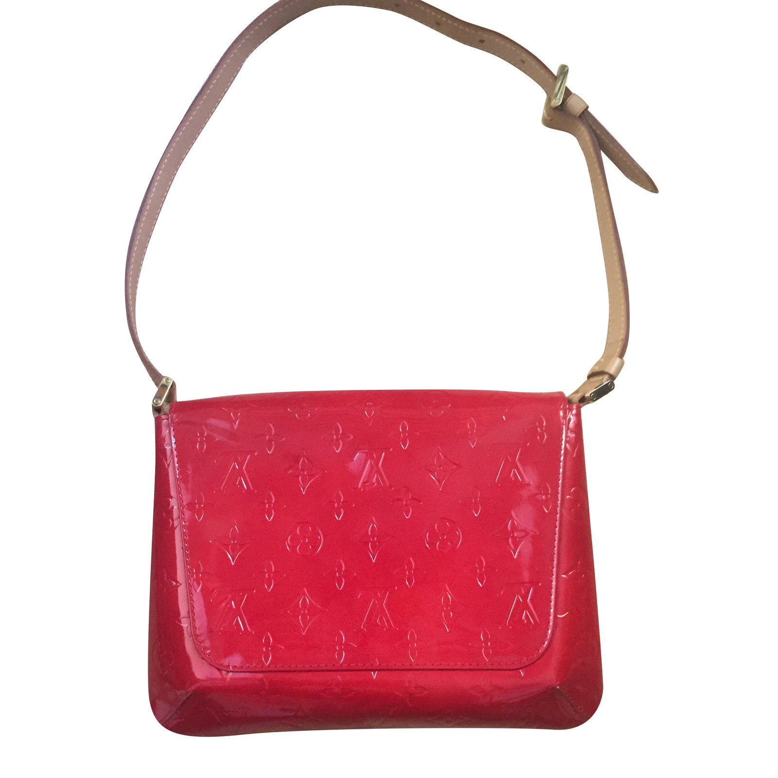 Louis Vuitton Handbags Patent Leather Red Ref 67638