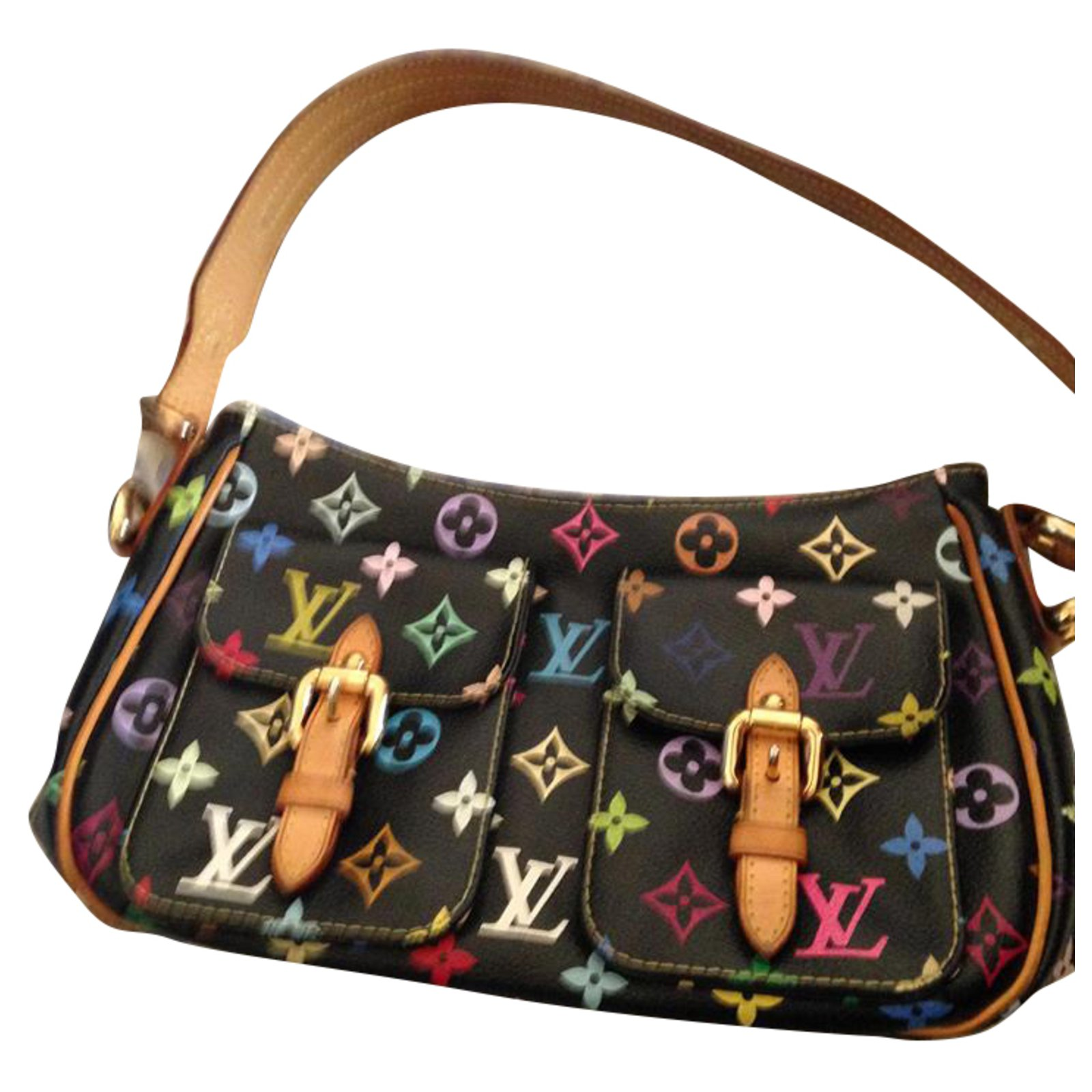 c9e475ce8361 Louis Vuitton Handbags Handbags Leather Black ref.67675 - Joli Closet