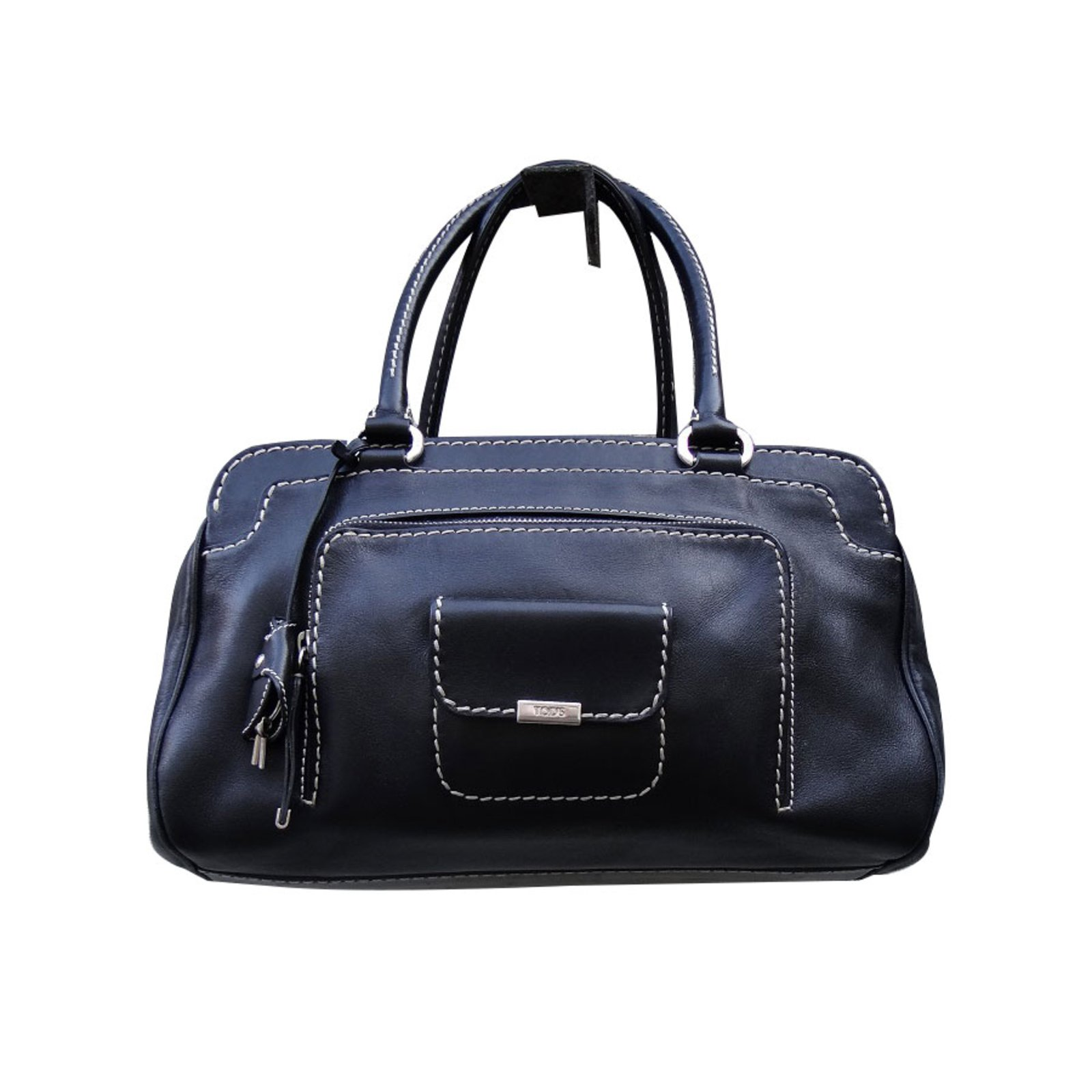 Tod s Handbags Handbags Leather Black ref.67780 - Joli Closet dd8f668d141e3