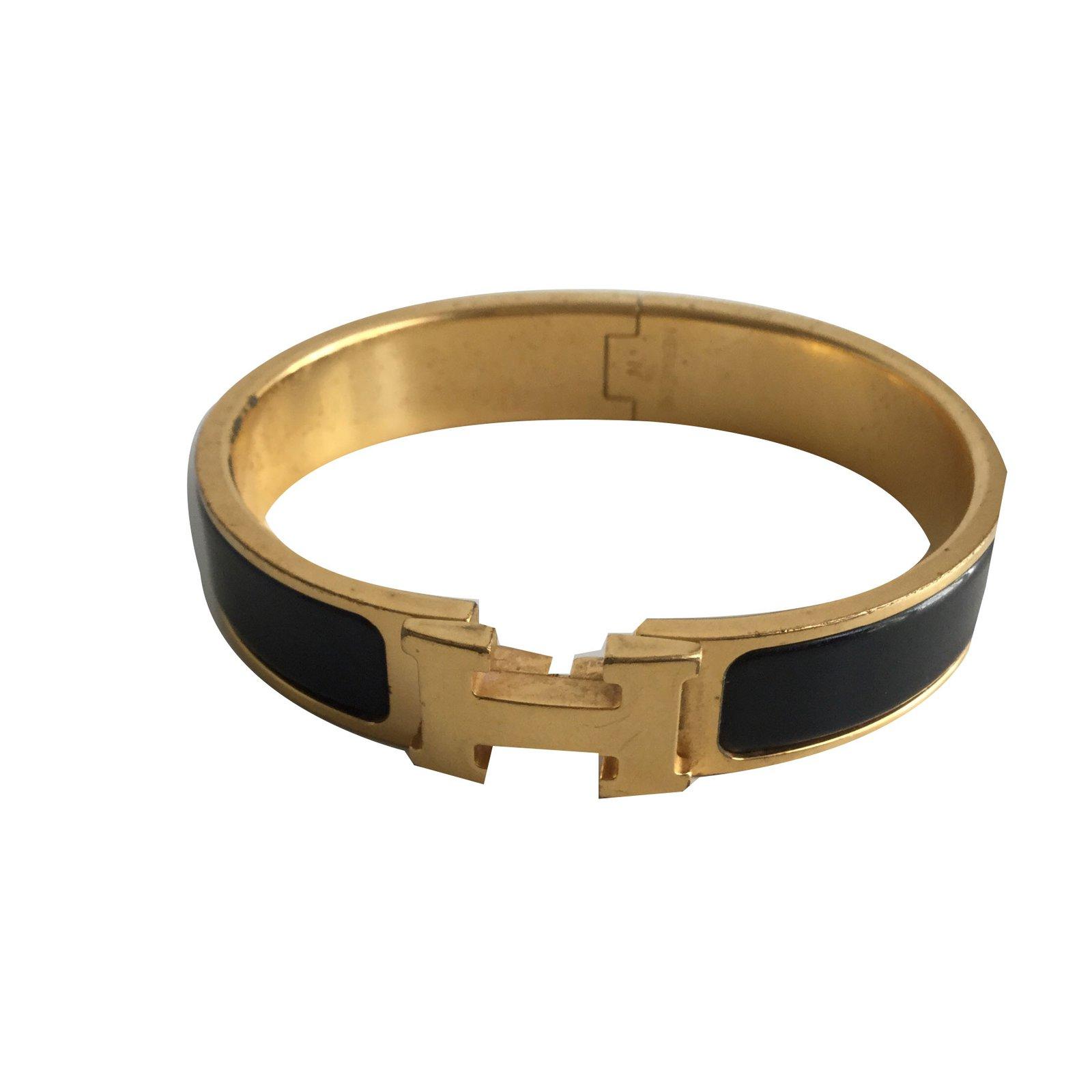 34e2d2d2dd Bracelets Hermès Clic H PM Autre Noir ref.67803 ...