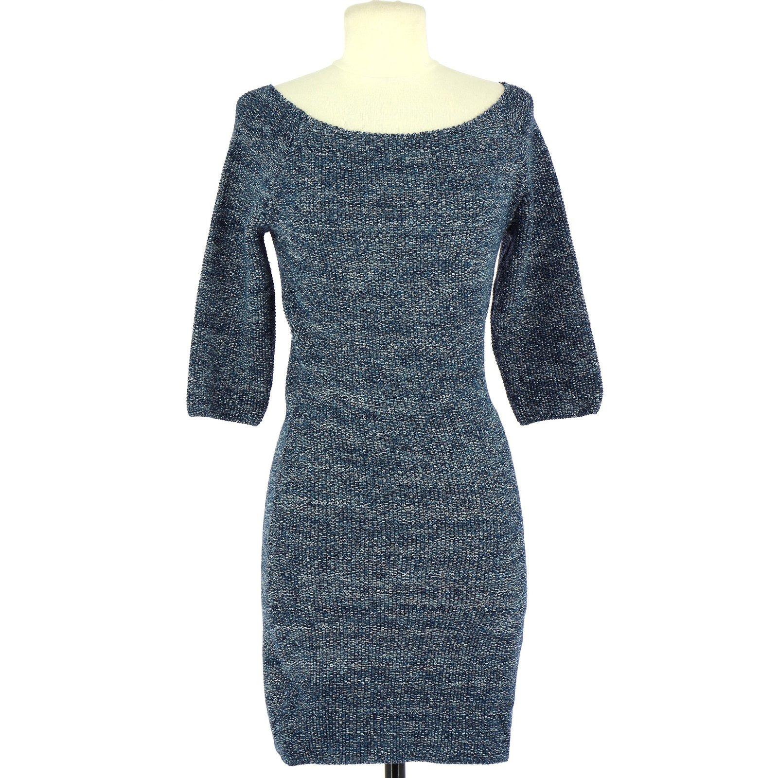 bc20acaaf6d Coton Ref Closet Bleu Robe Maje 68030 Robes Joli wEgFq1An