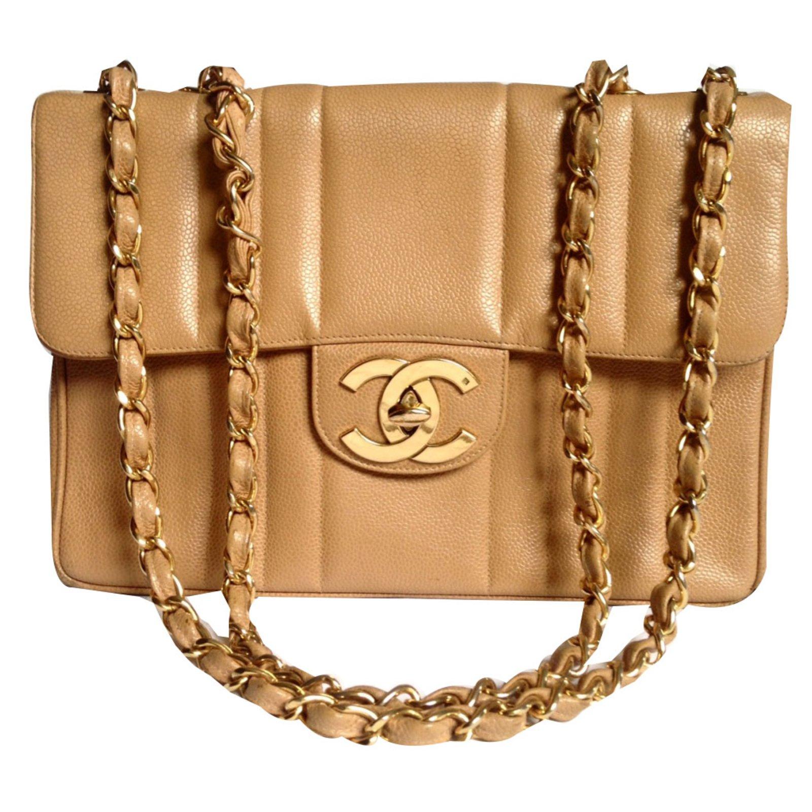 7cf38931ec373f Chanel timeless Handbags Leather Caramel ref.68115 - Joli Closet