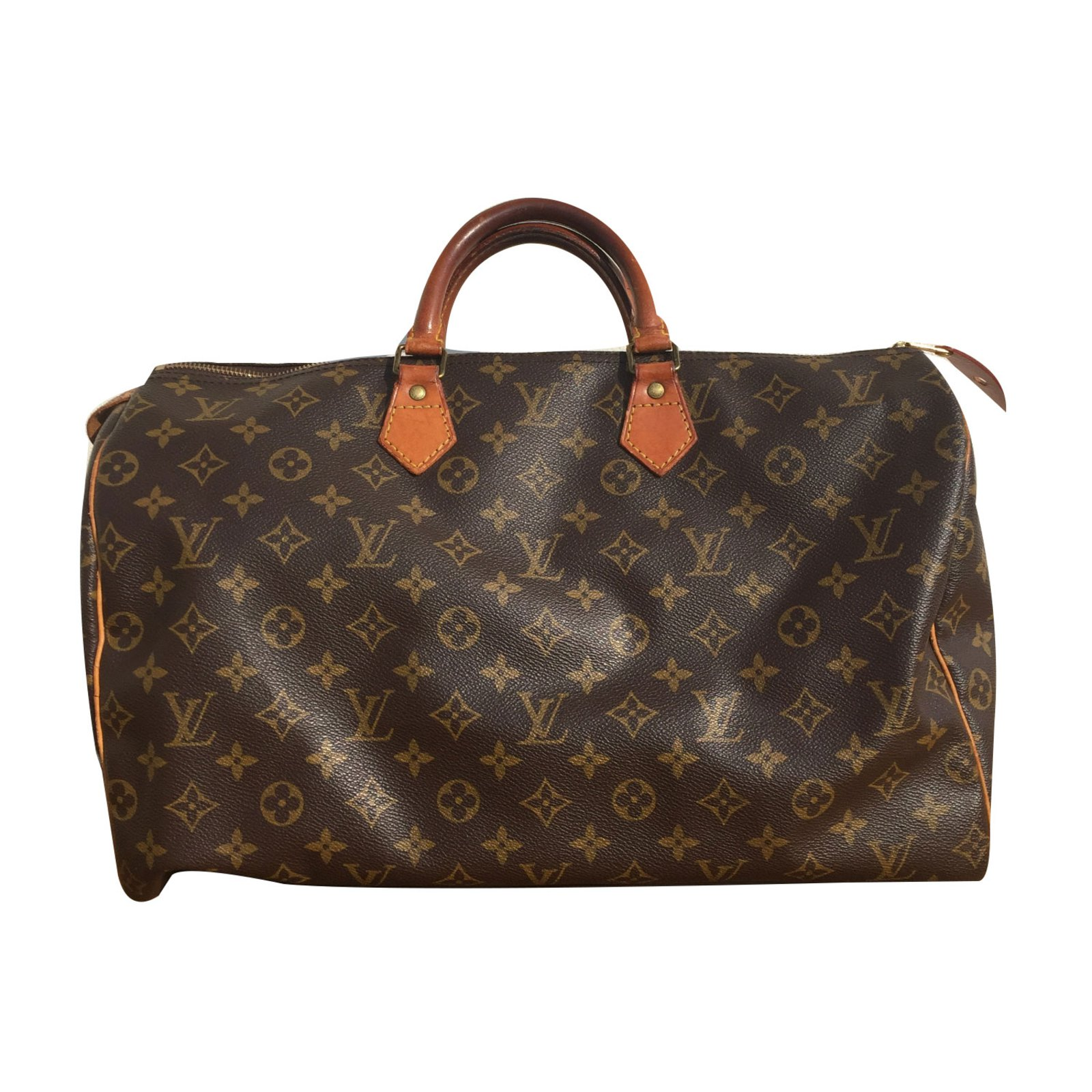 Sacs à main Louis Vuitton speedy 40 LOUIS VUITTON vintage Synthétique  Marron ref.68134 e8dc8bcc3ae