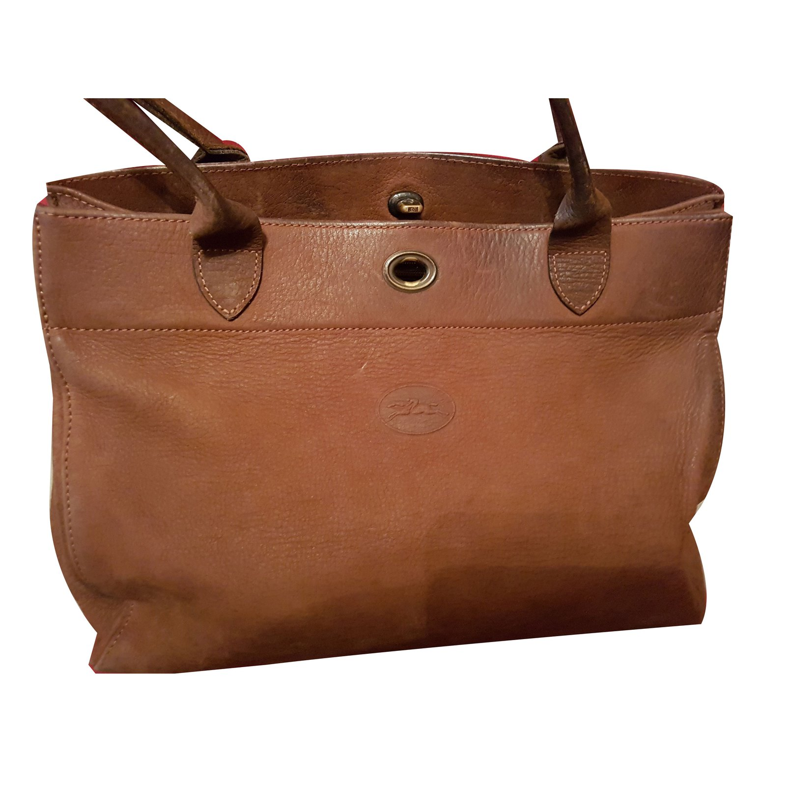 5d14507f3fa3 Longchamp Handbags Handbags Deerskin Caramel ref.68224 - Joli Closet