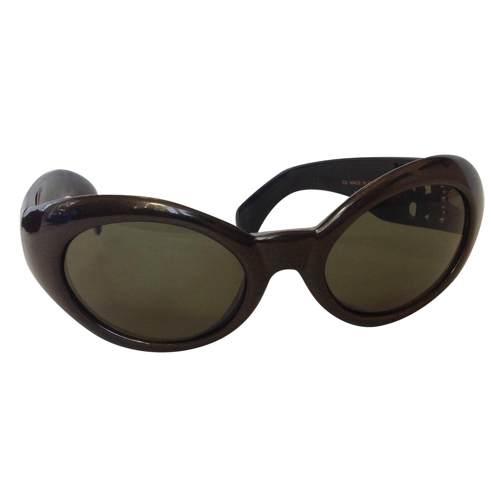 1cae9f662ddabe Lunettes Karl Lagerfeld Lunettes de soleil Plastique Marron,Noir,Métallisé  ref.68276