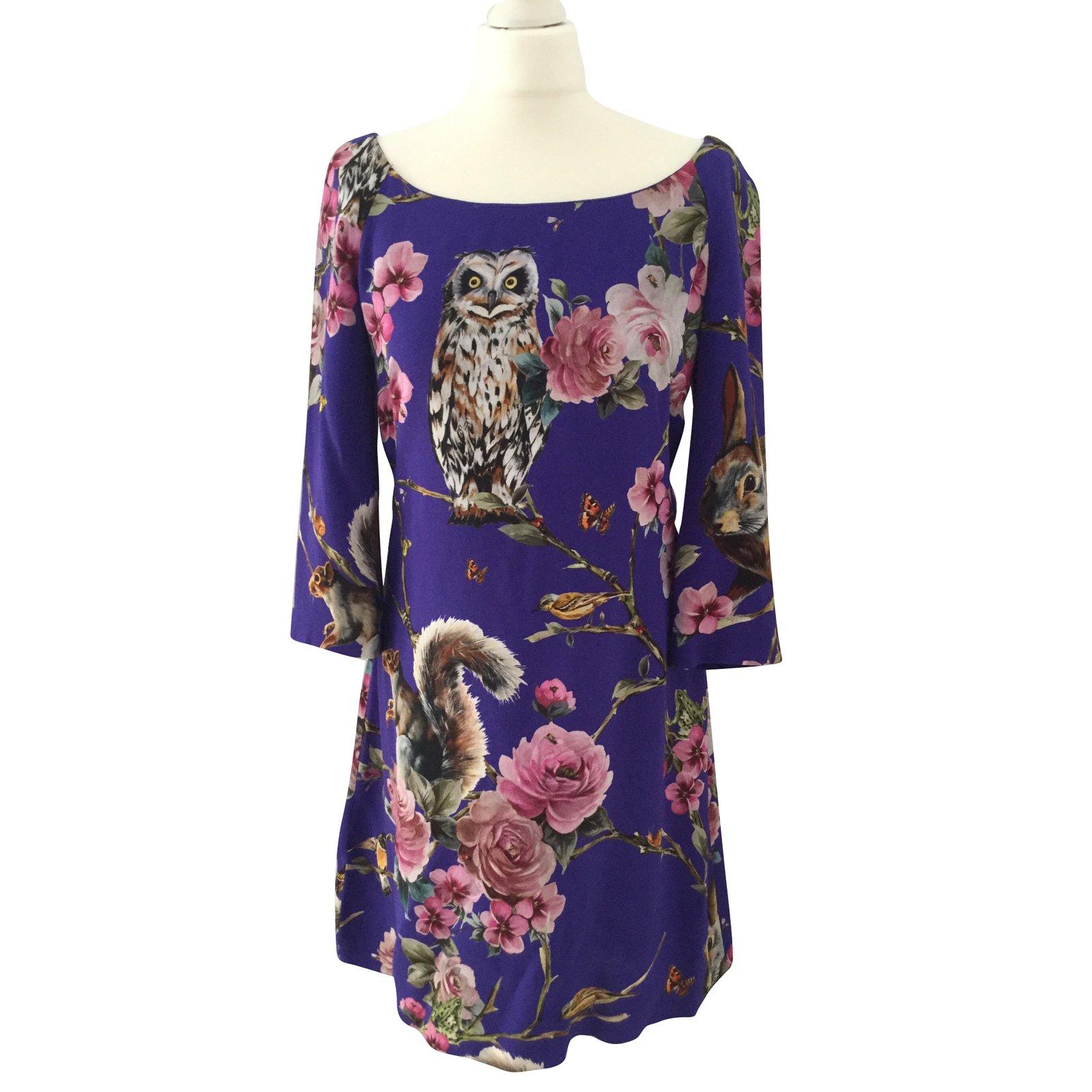 9e9c0605 Dolce & Gabbana Dresses Dresses Viscose Purple ref.68396 - Joli Closet