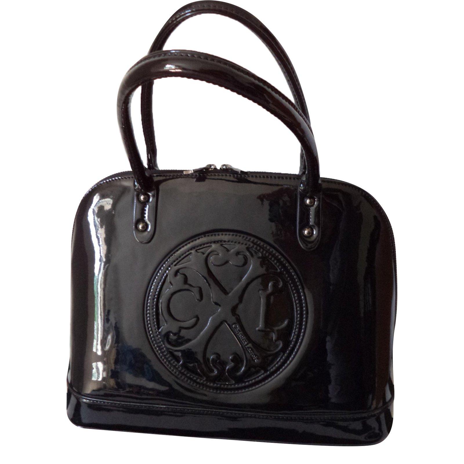 0e92f531e Christian Lacroix Handbag Handbags Varnish Black ref.68409 - Joli Closet