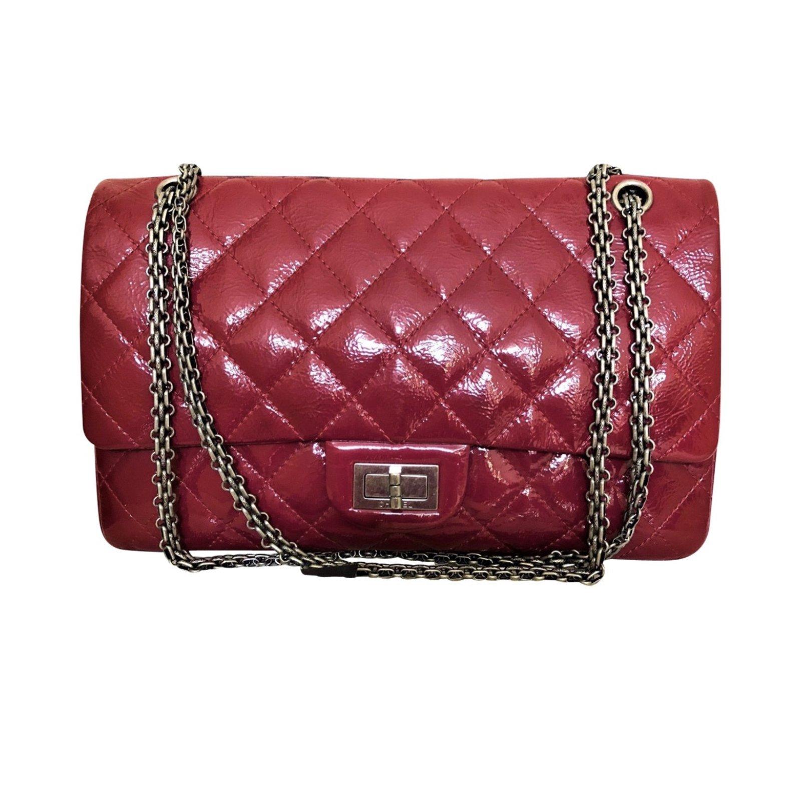 f3fd495ff871eb Sacs à main Chanel 2.55 Cuir vernis Rouge ref.68440 - Joli Closet