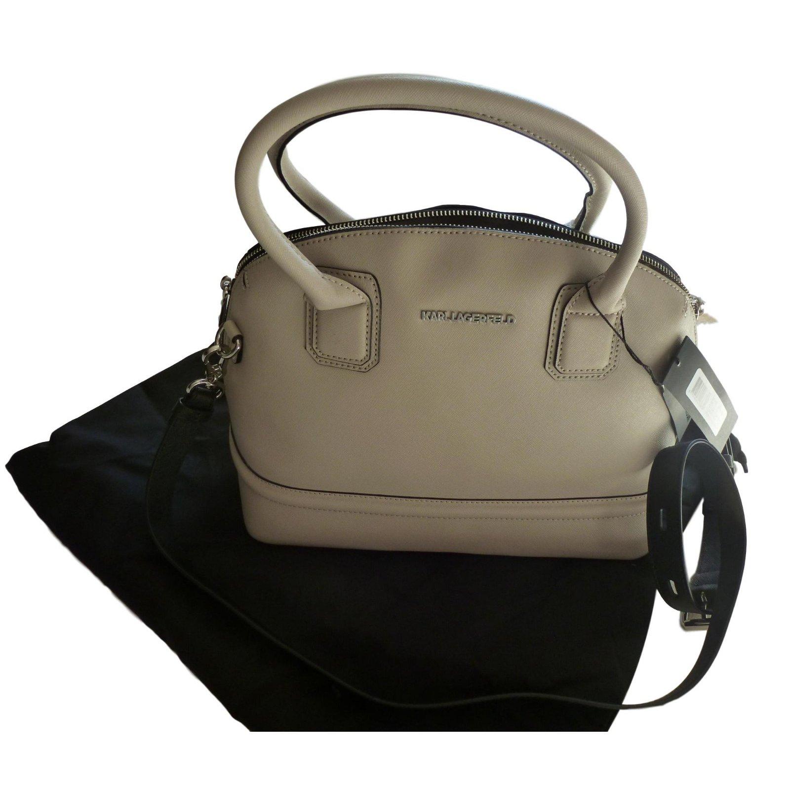 Karl Lagerfeld Handbags Handbags Leather Cream Ref68450 Joli Closet