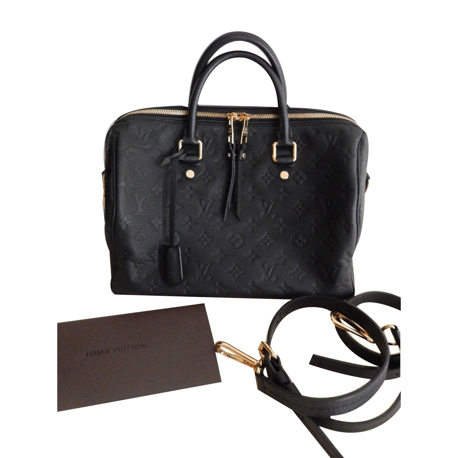 sacs main louis vuitton speedy 30 cuir noir joli closet